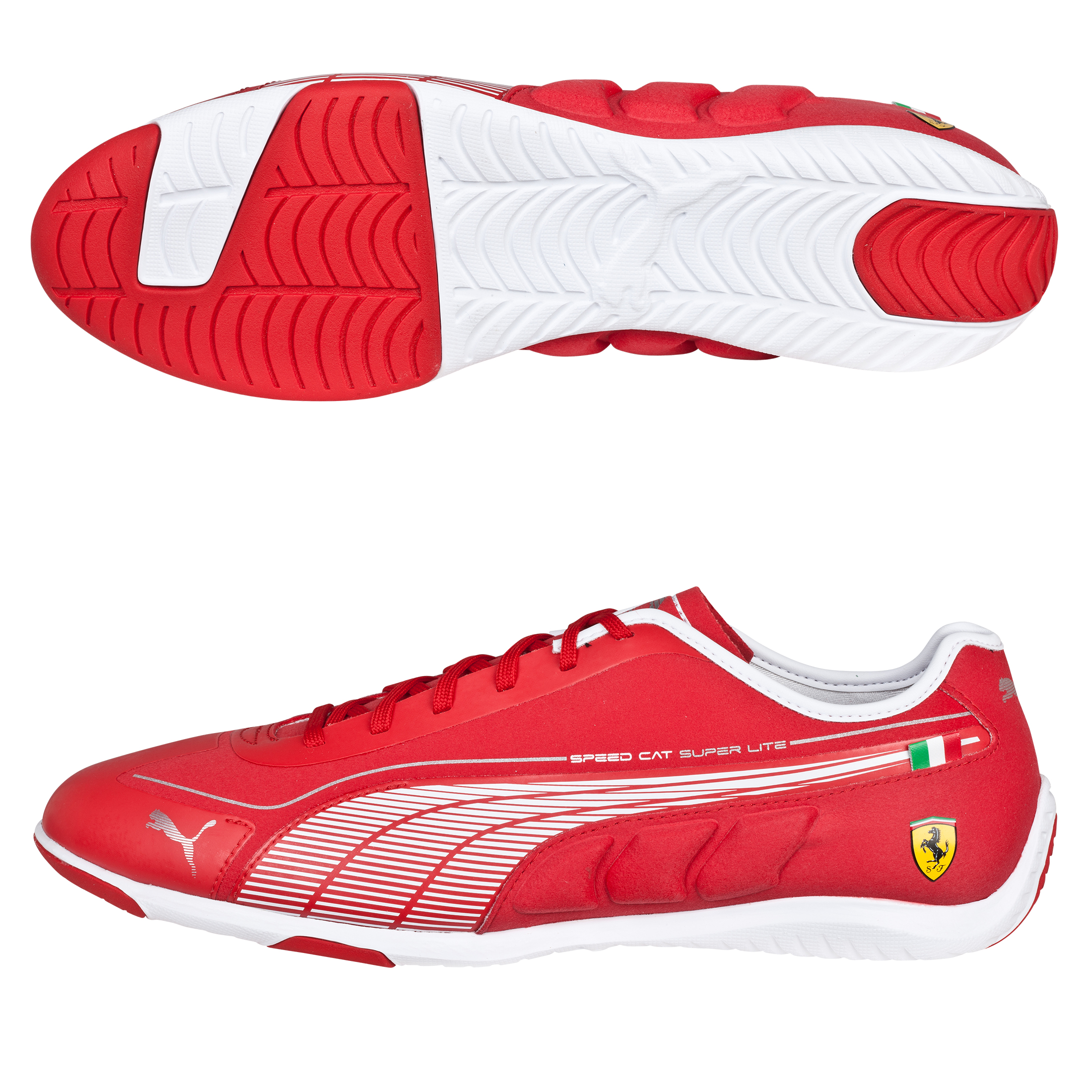 Scuderia Ferrari Scuderia Speed Cat Super Lite Low - Rosso Corsa/White