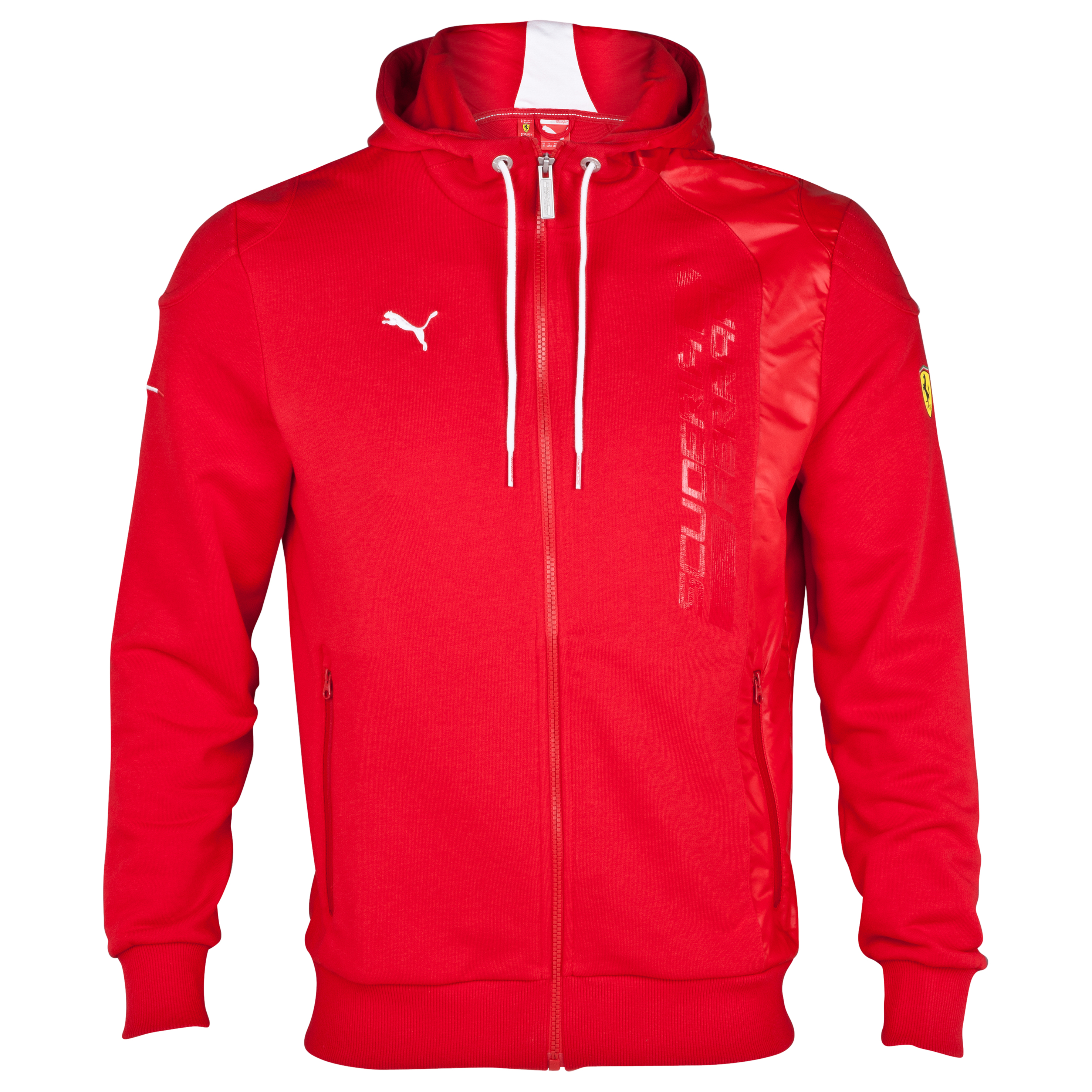 Scuderia Ferrari Hooded Sweat Jacket - Rosso Corsa
