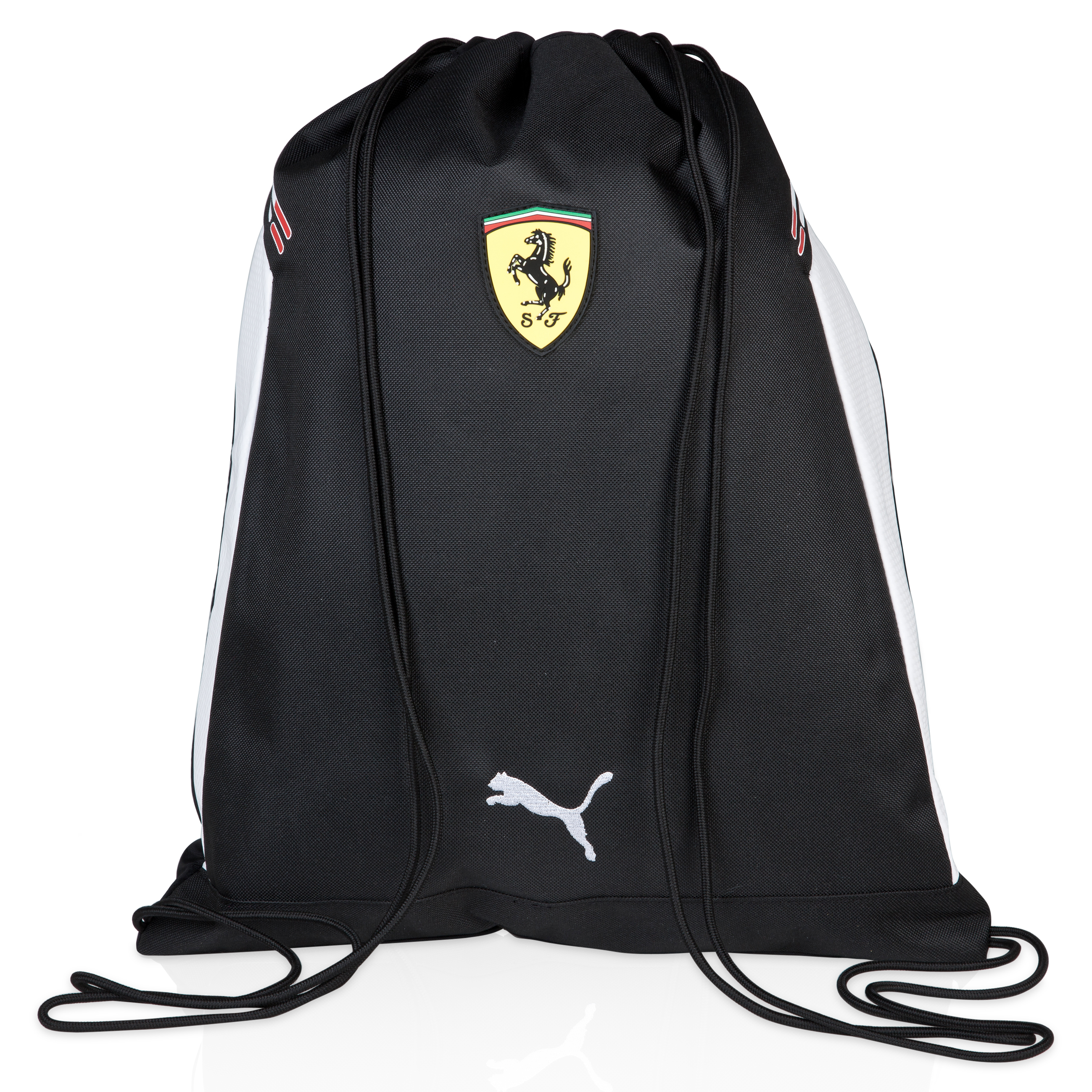 Scuderia Ferrari Replica Gym Sack - Black/White