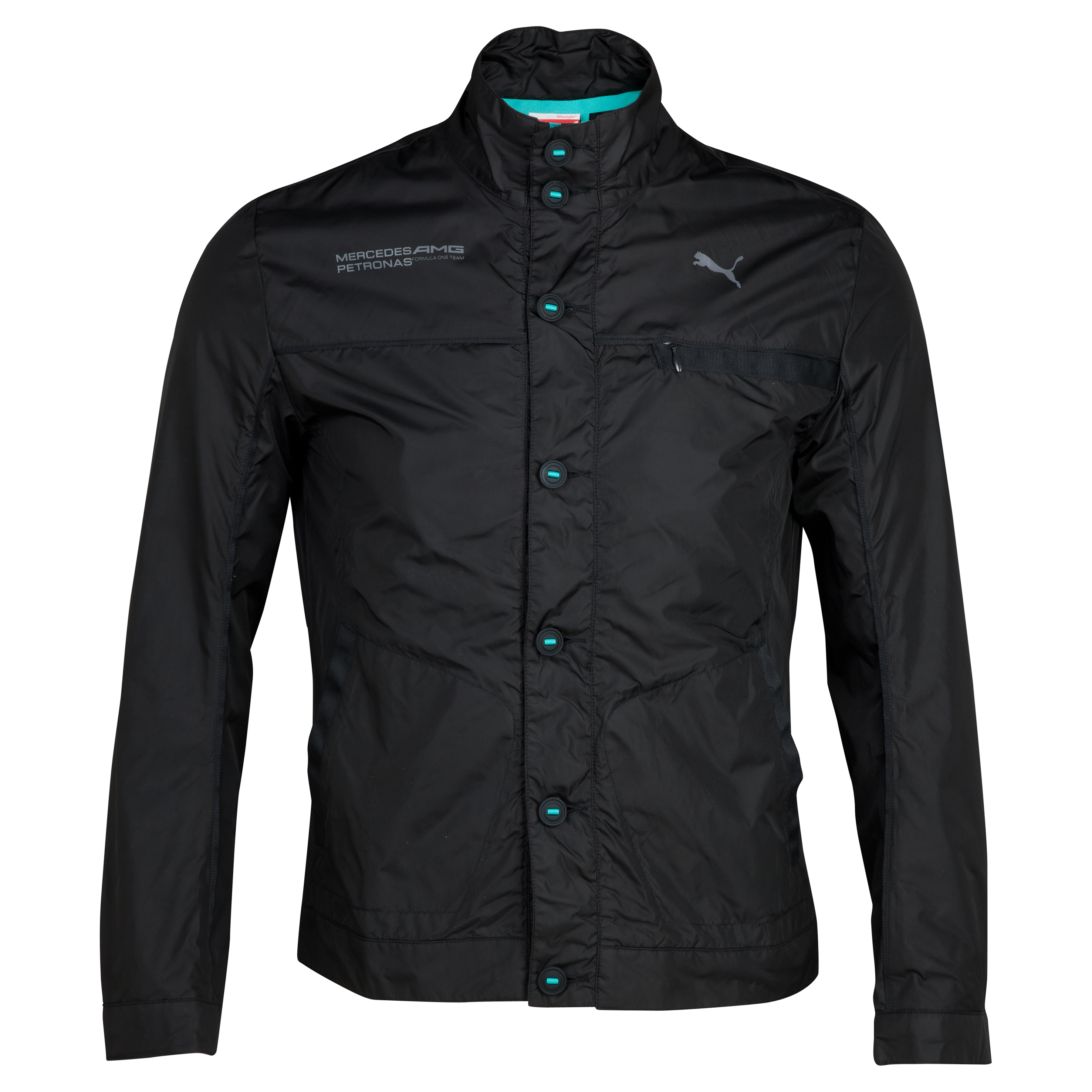 Mercedes AMG Petronas Lightweight Jacket - Black