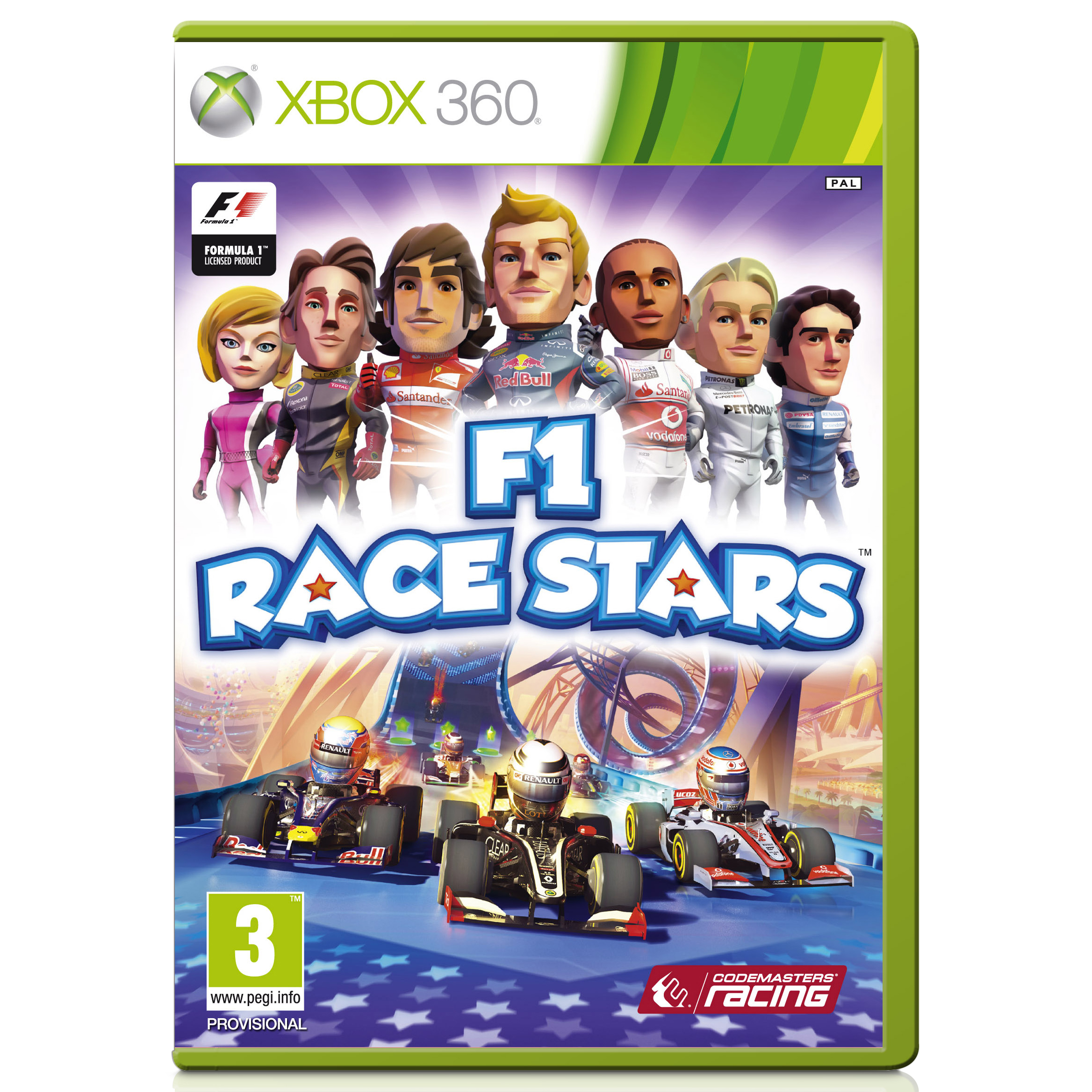 Formula One Race Stars Video Game - Xbox 360 - PAL