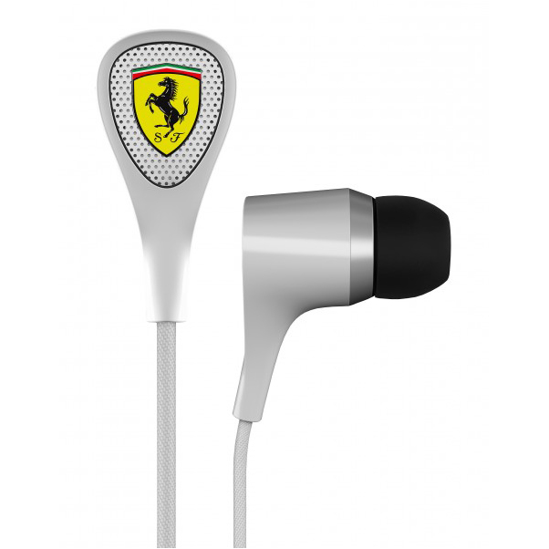 Scuderia Ferrari Scuderia S100i Earphones - White
