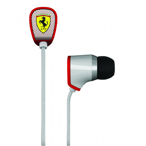 Scuderia Ferrari R100 Earphones - White