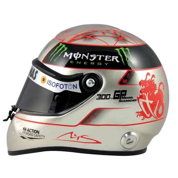 Michael Schumacher 300th Grand Prix Schuberth Replica Helmet 1:2 Scale