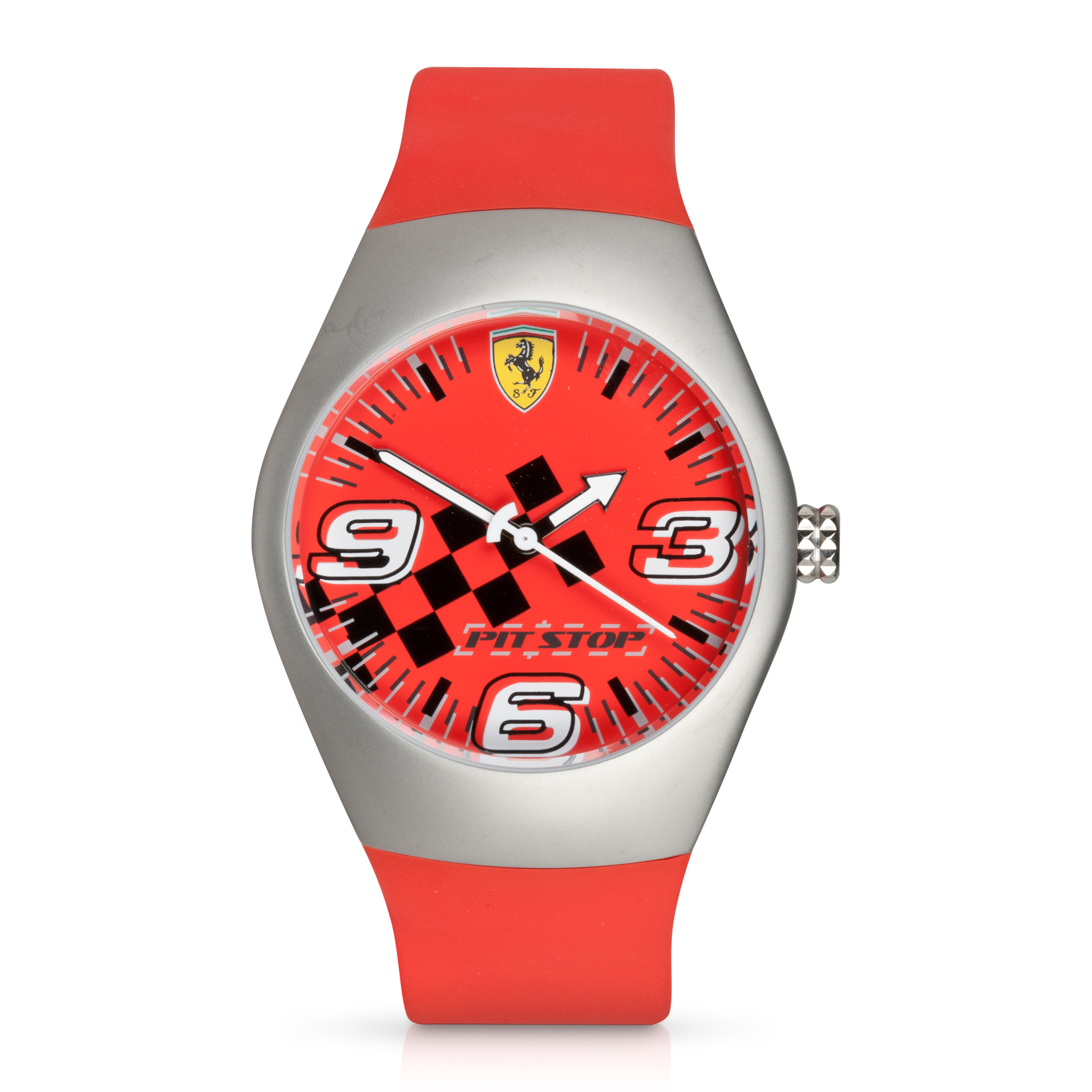 Ferrari Pit Stop Steel Case Watch - Red/Red