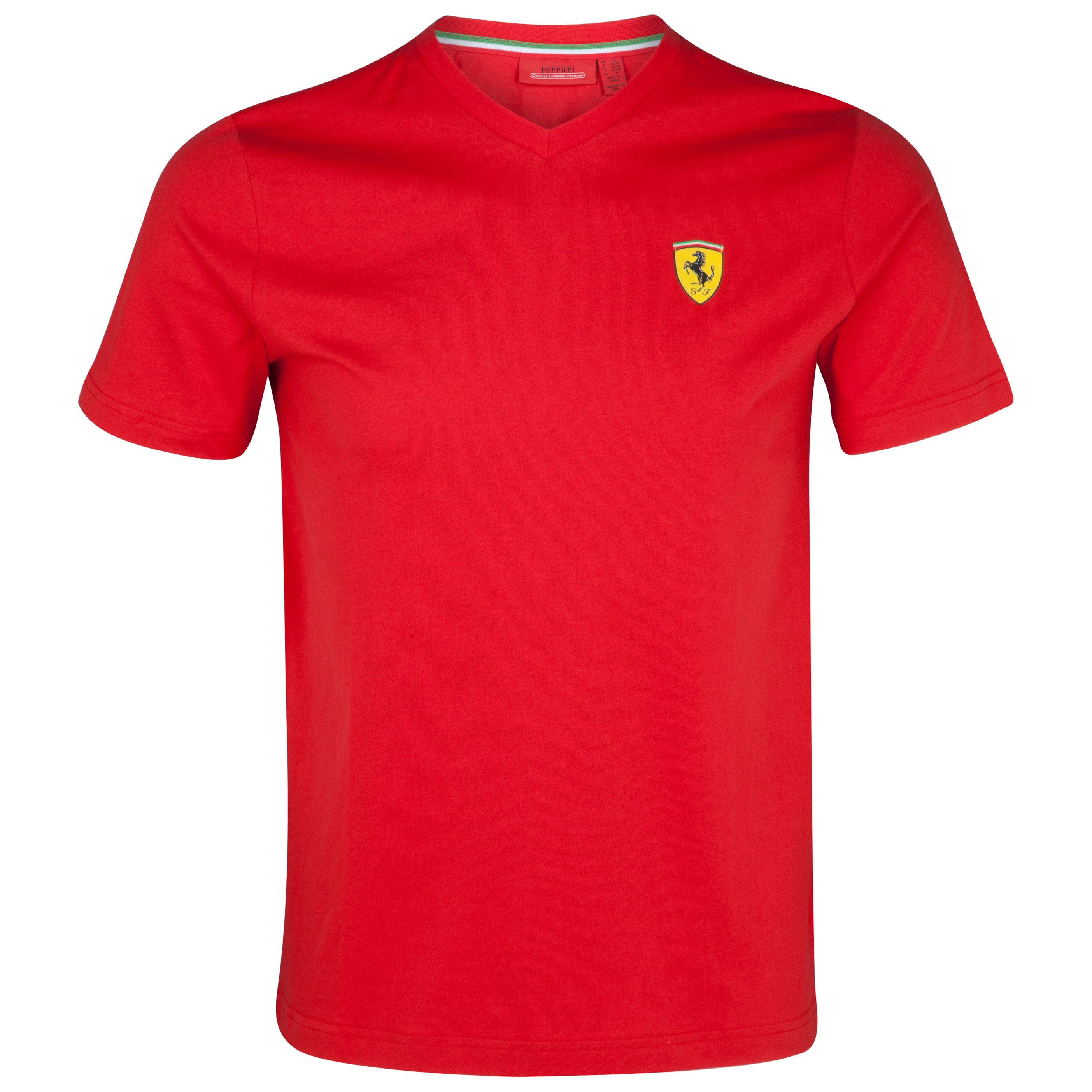 Scuderia Ferrari Santander V-Neck T-Shirt - Red