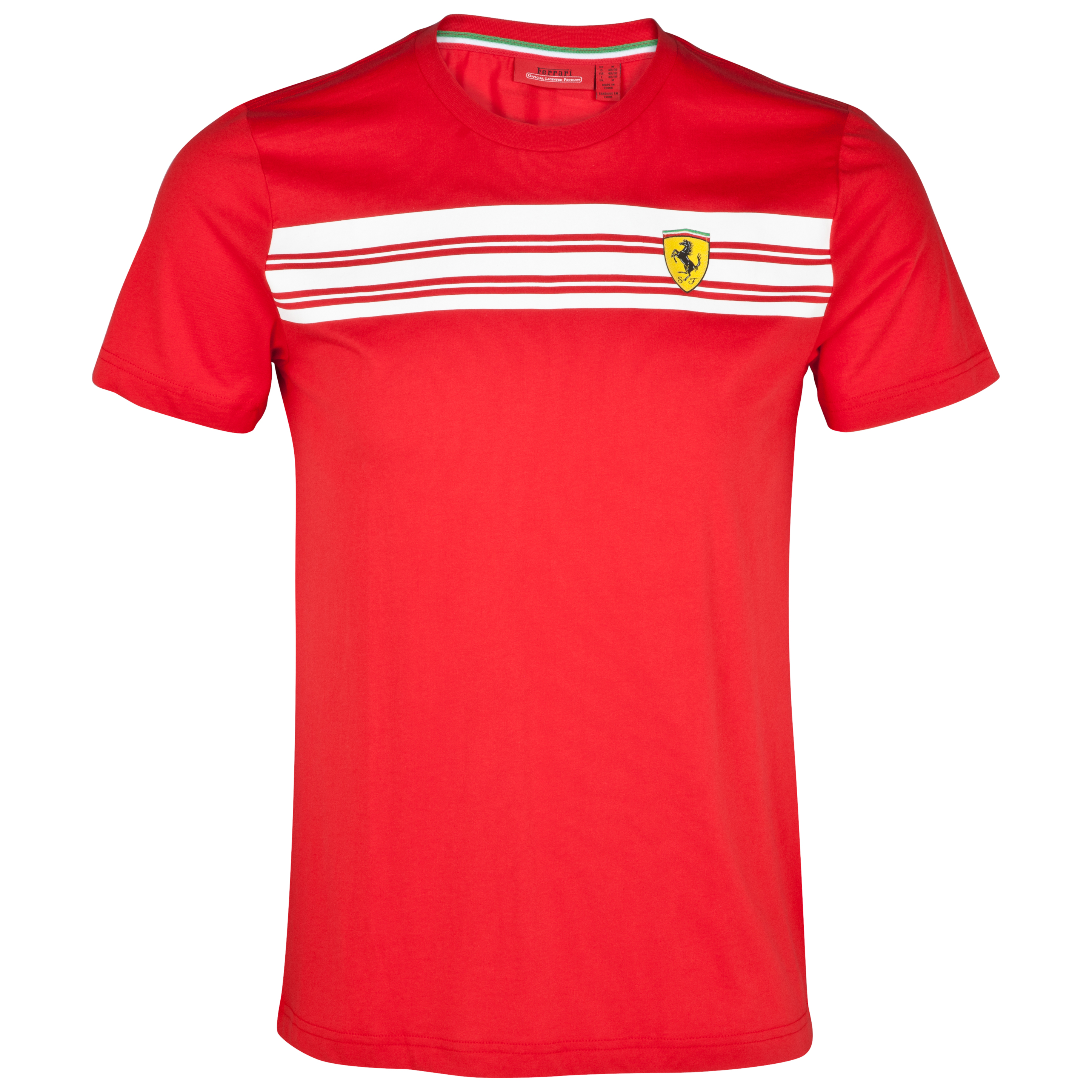 Scuderia Ferrari Scuderia Striped T-Shirt - Red