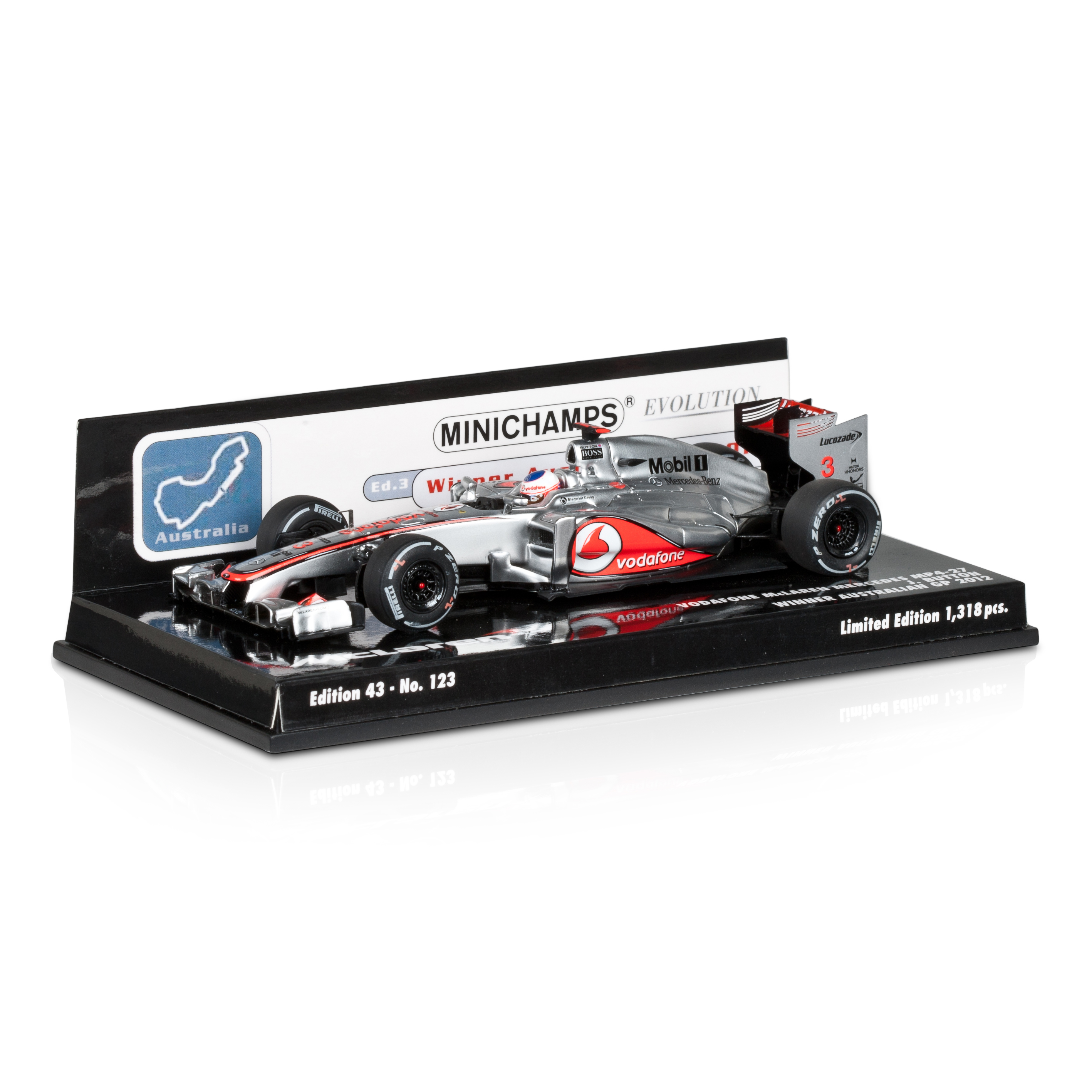 Vodafone McLaren Mercedes MP4-27 Jenson Button Winner Australian GP 2012 1:43 Scale