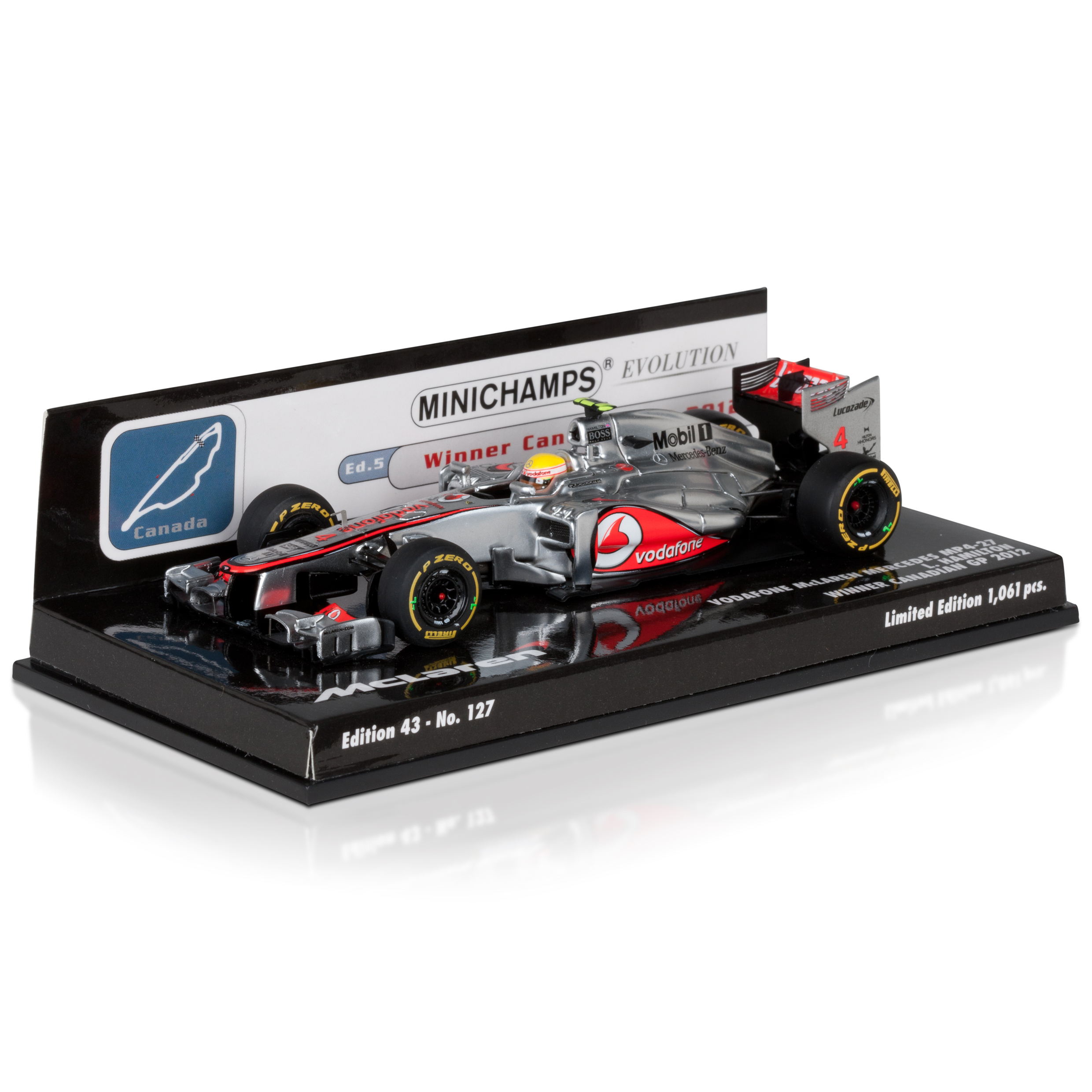 Vodafone McLaren Mercedes MP4-27 Lewis Hamilton Winner Canadian GP 2012 1:43 Scale