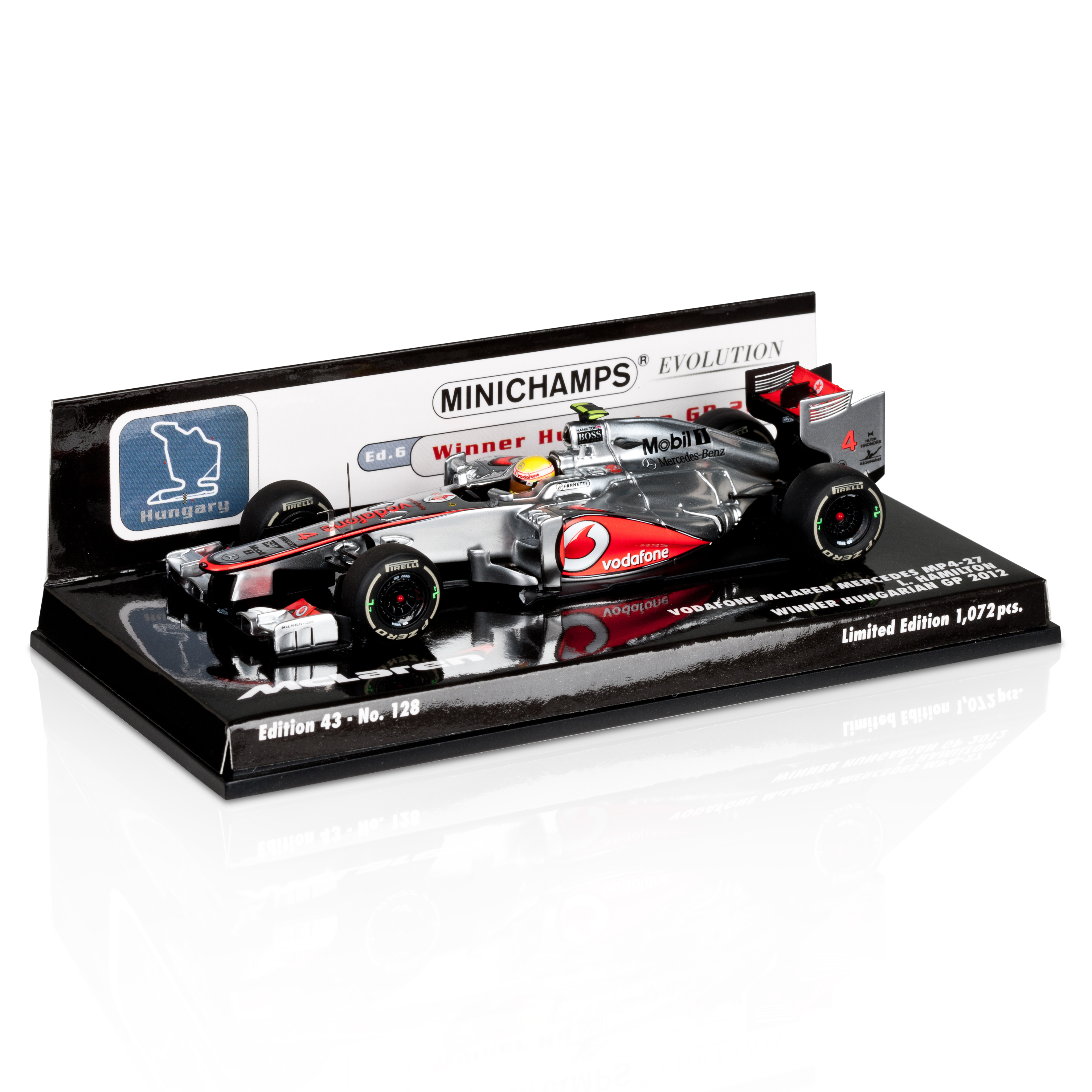 Vodafone McLaren Mercedes MP4-27 Lewis Hamilton Winner Hungarian GP 2012 1:43 Scale