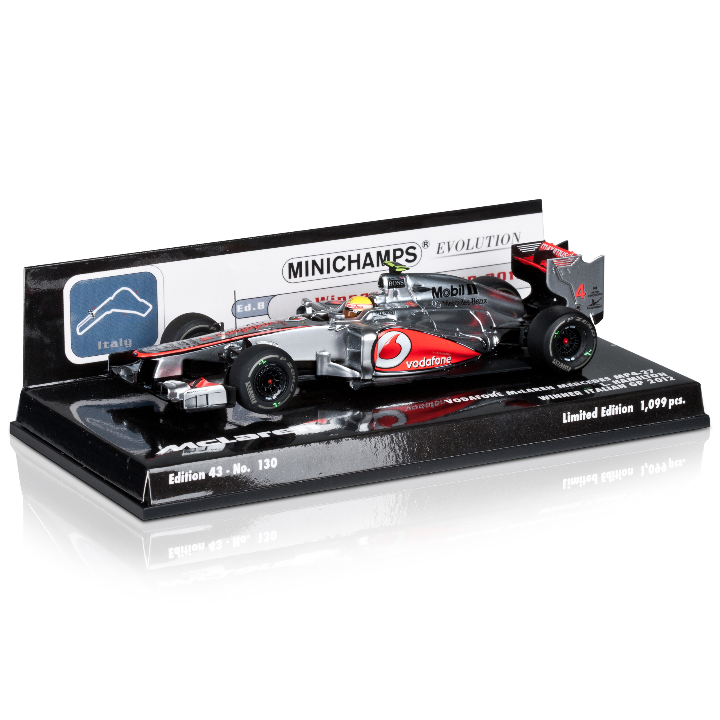 Vodafone McLaren Mercedes MP4-27 Lewis Hamilton Winner Italian GP 2012 1:43 Scale