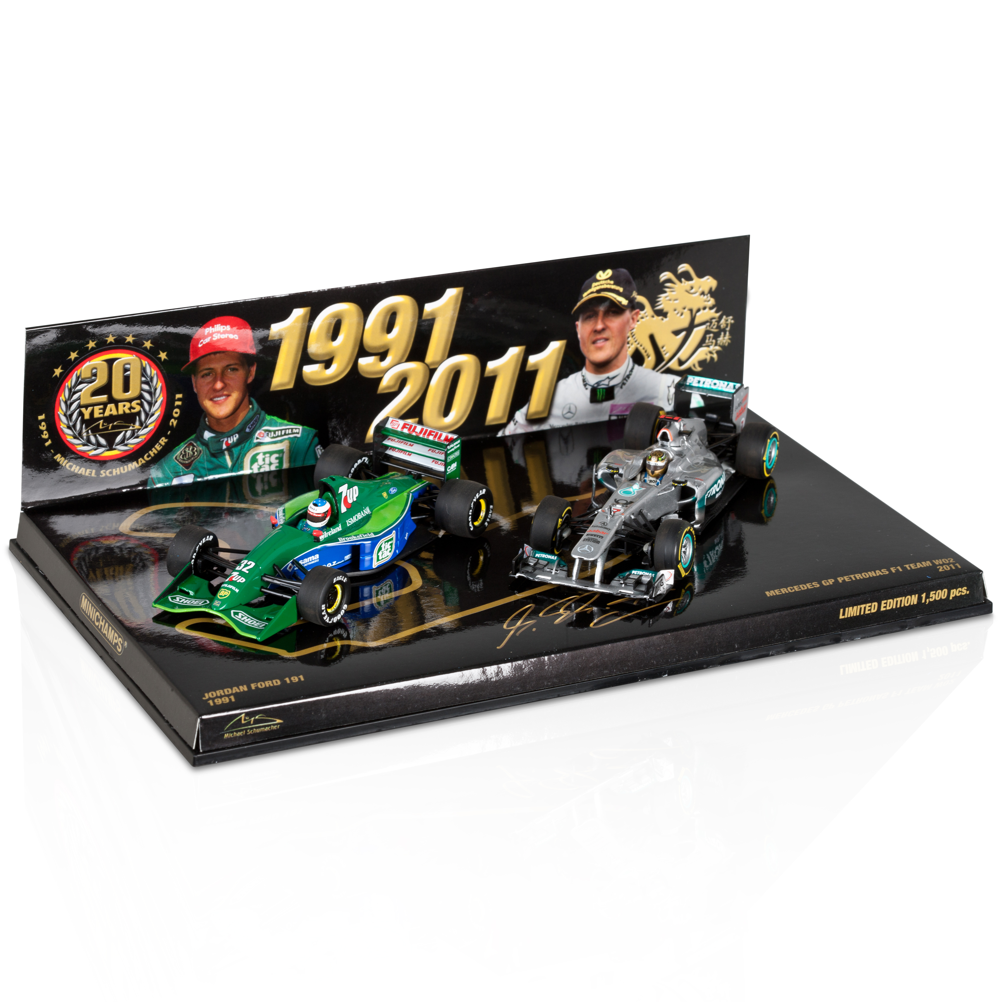 Michael Schumacher Spa 1991 - 2011 Double Set Model 1:43 Scale