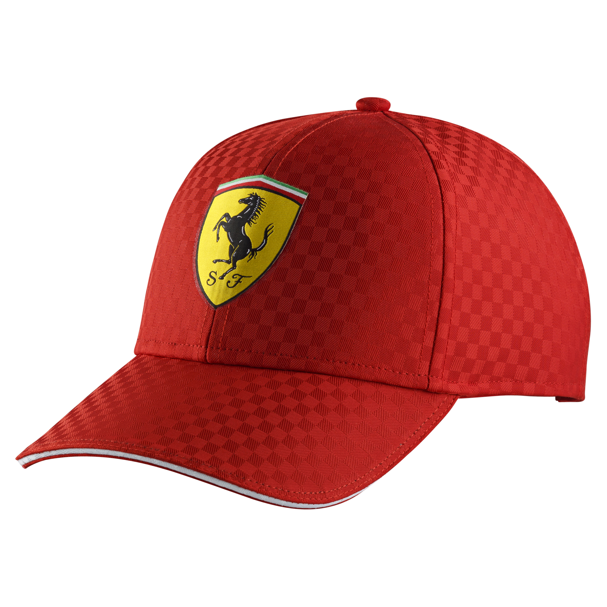 Scuderia Ferrari Racing Check Cap - Red