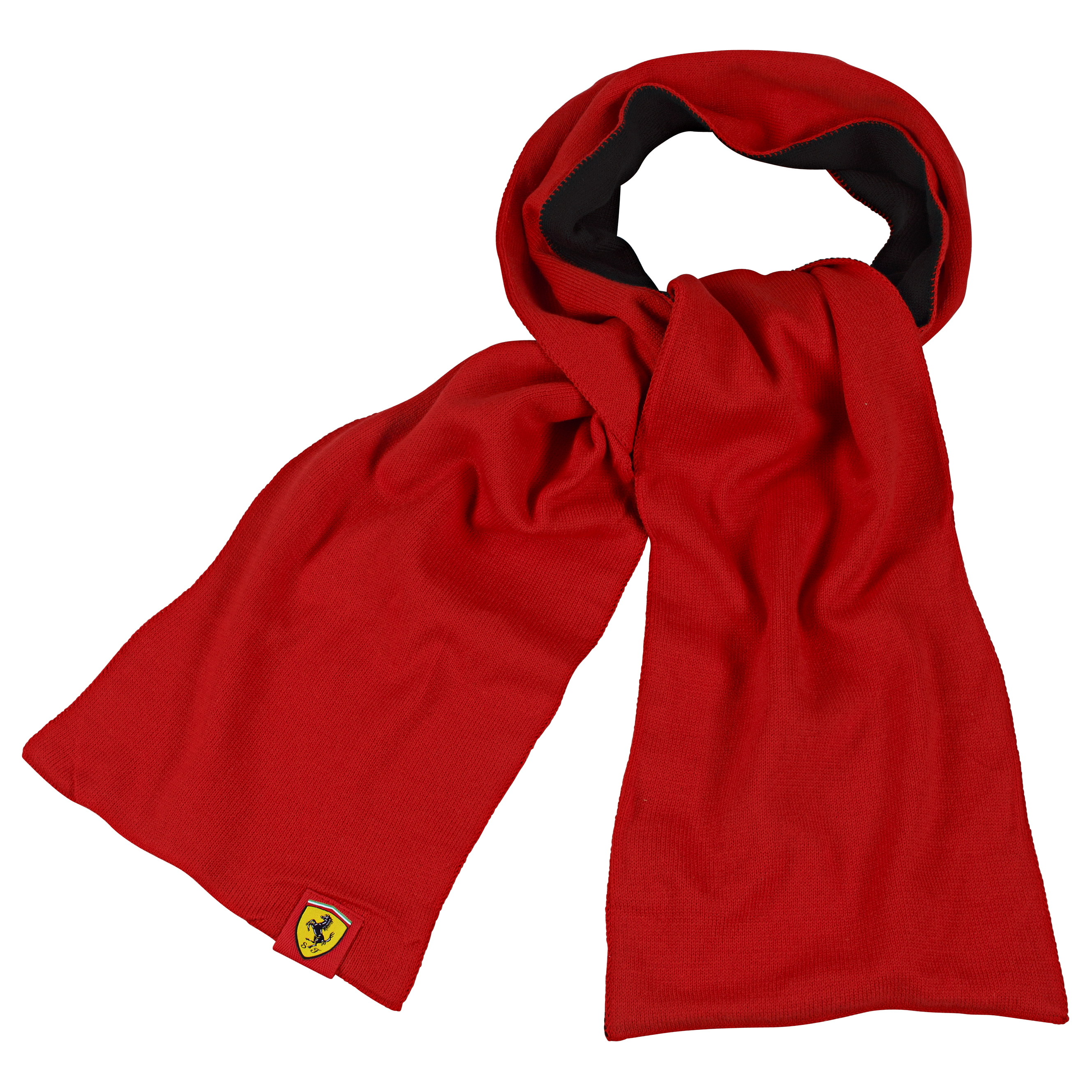 Scuderia Ferrari Knitted Scarf - Red/Black