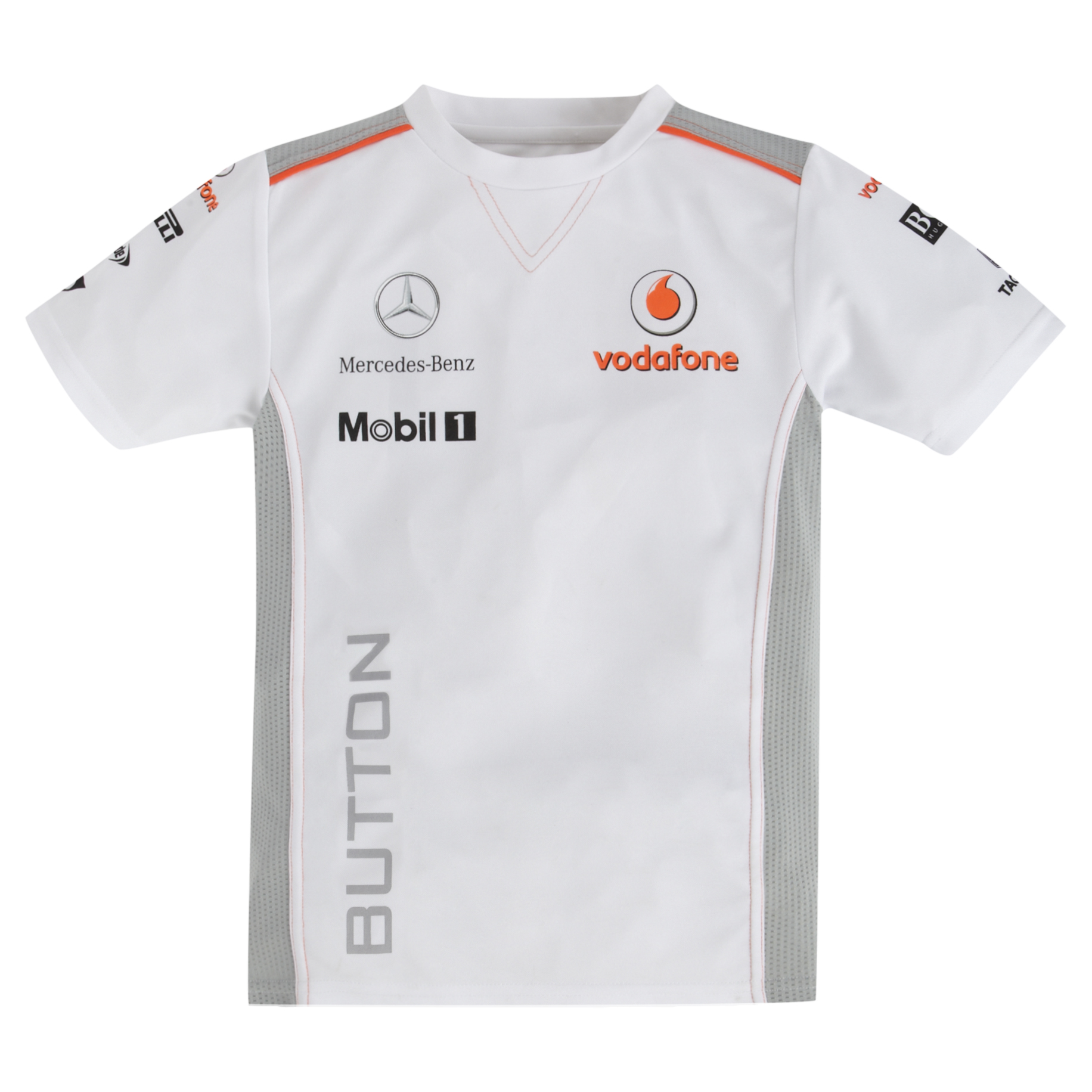 Vodafone McLaren Mercedes 2013 Button T-Shirt - Kids