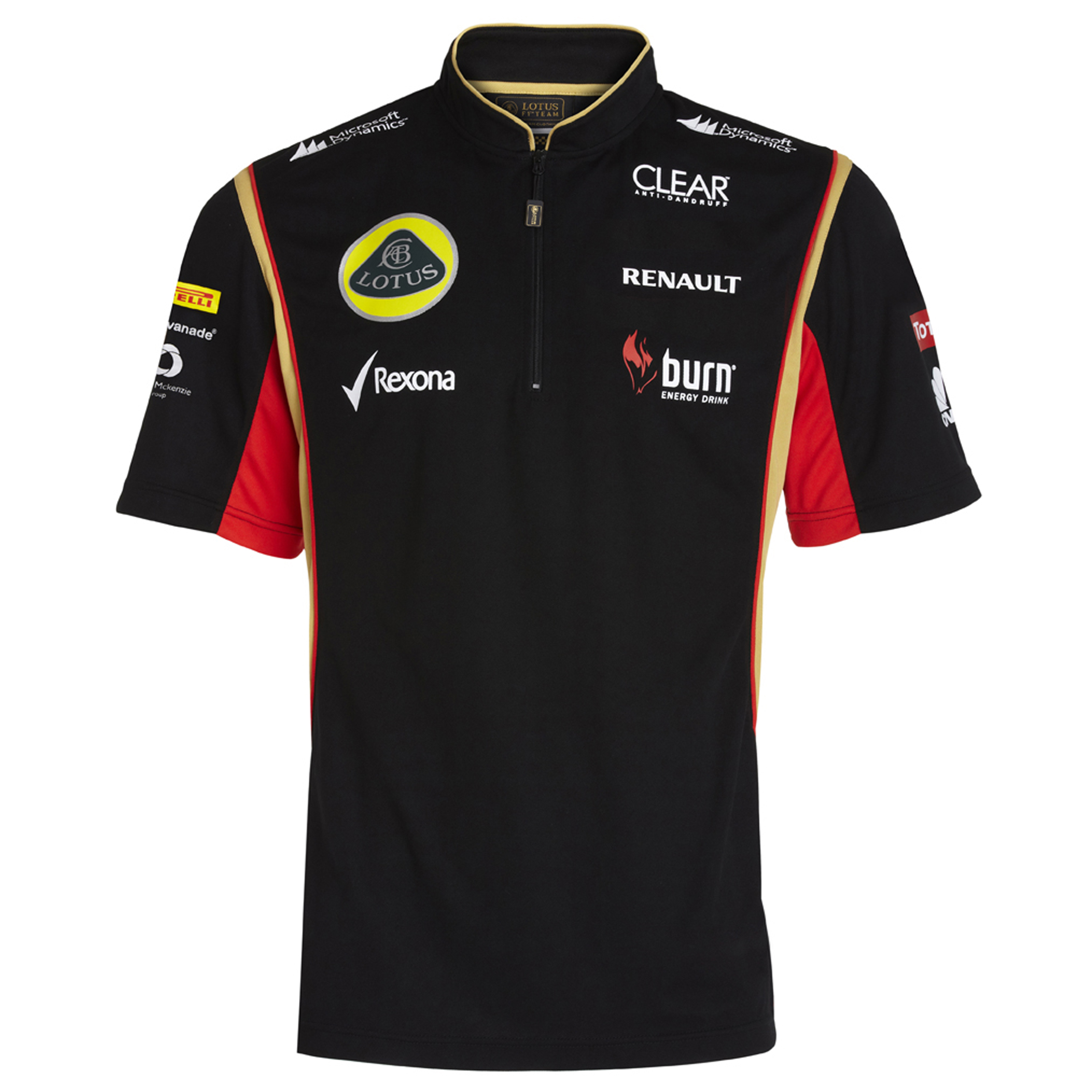 Lotus F1 Team 2013 F1 Mens Replica Zip Polo