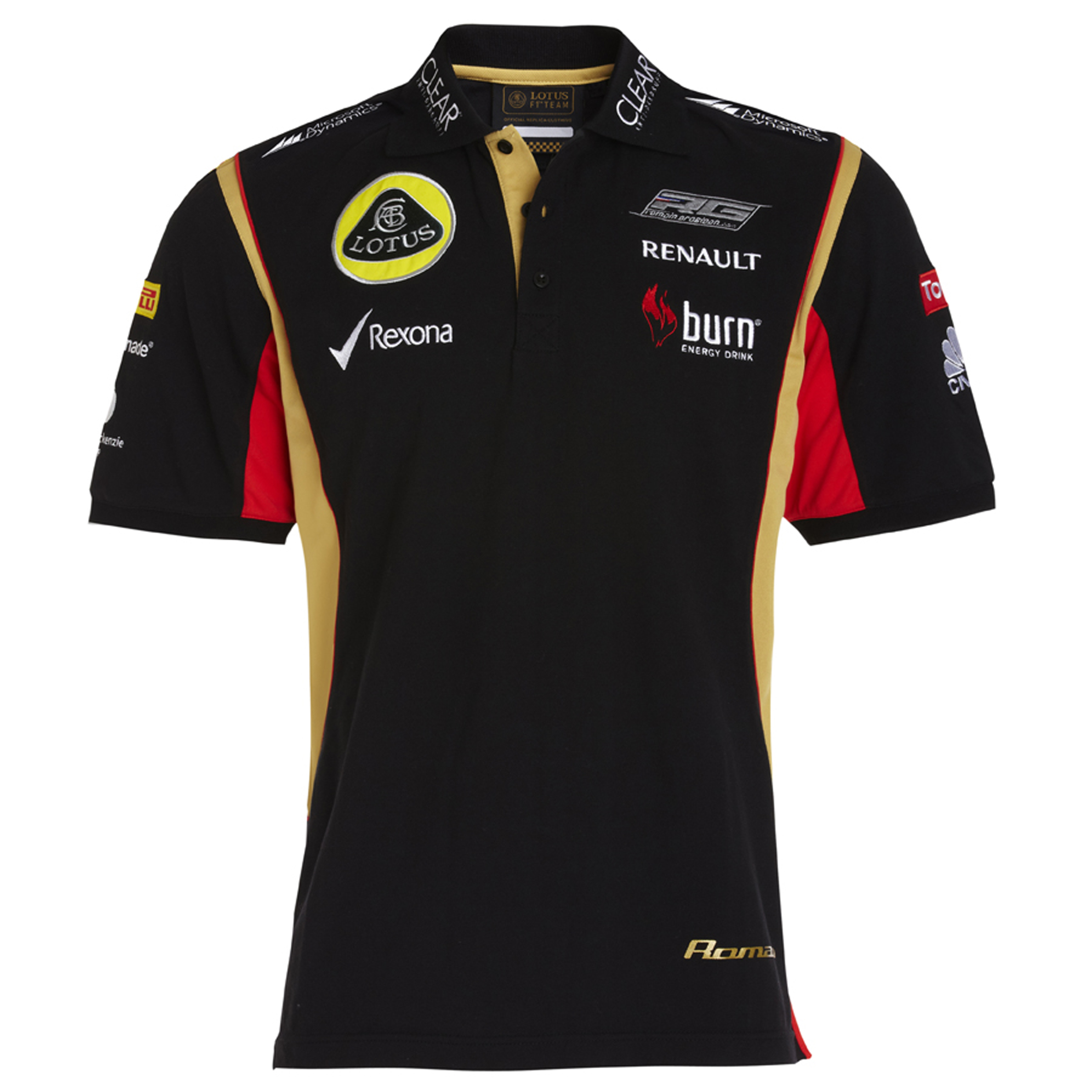 Lotus F1 Team 2013 F1 Mens Replica Romain Polo