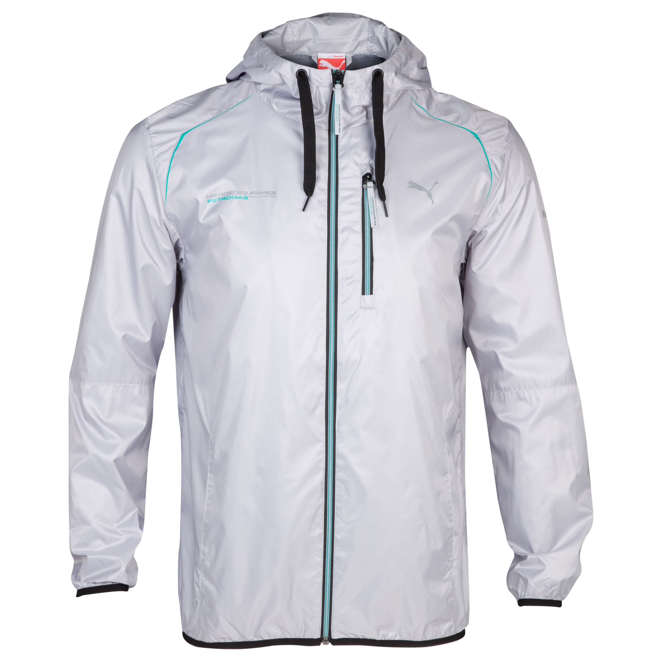 Mercedes AMG Petronas Windbreaker - Mercedes Team Silver
