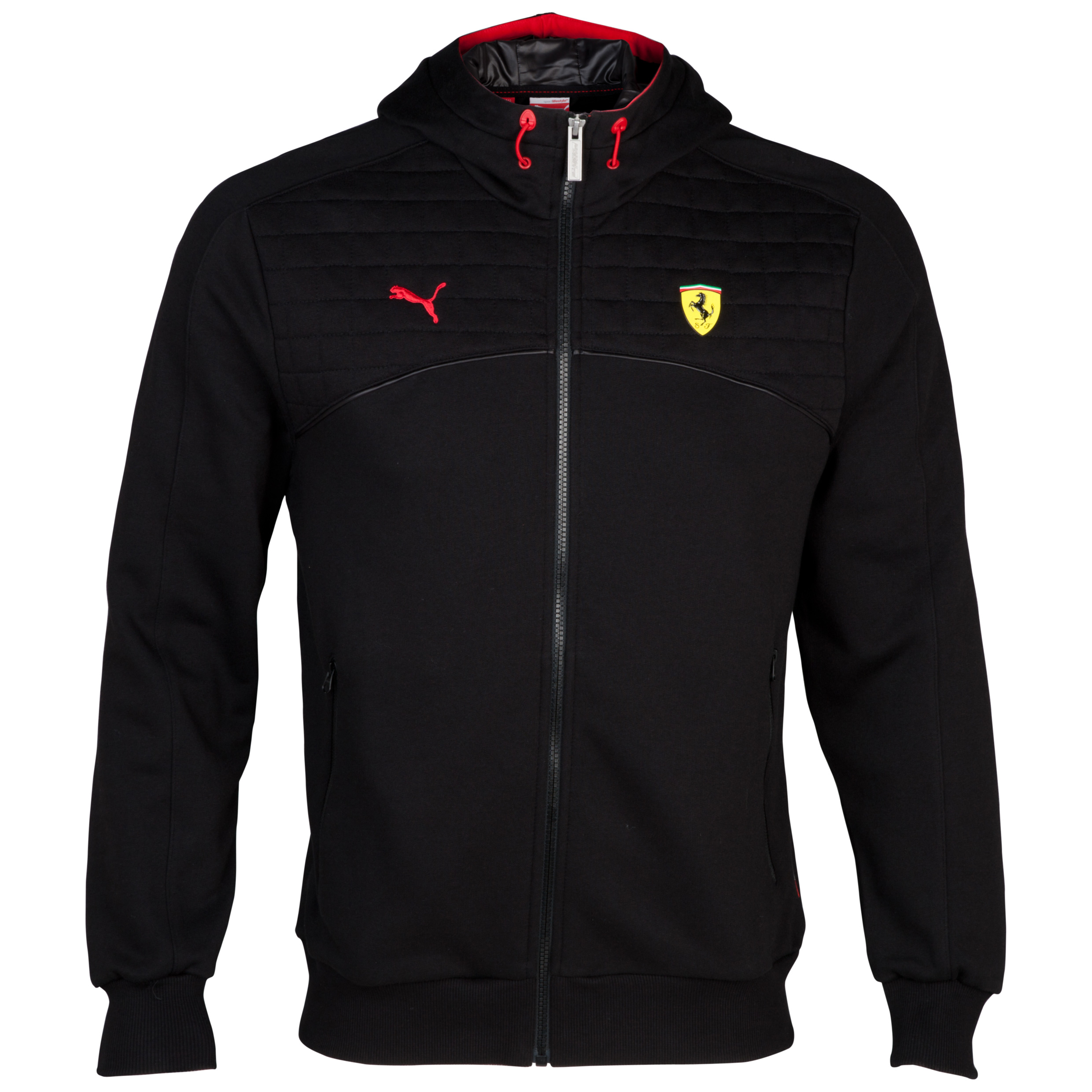 Scuderia Ferrari Hooded Sweat - Black Black