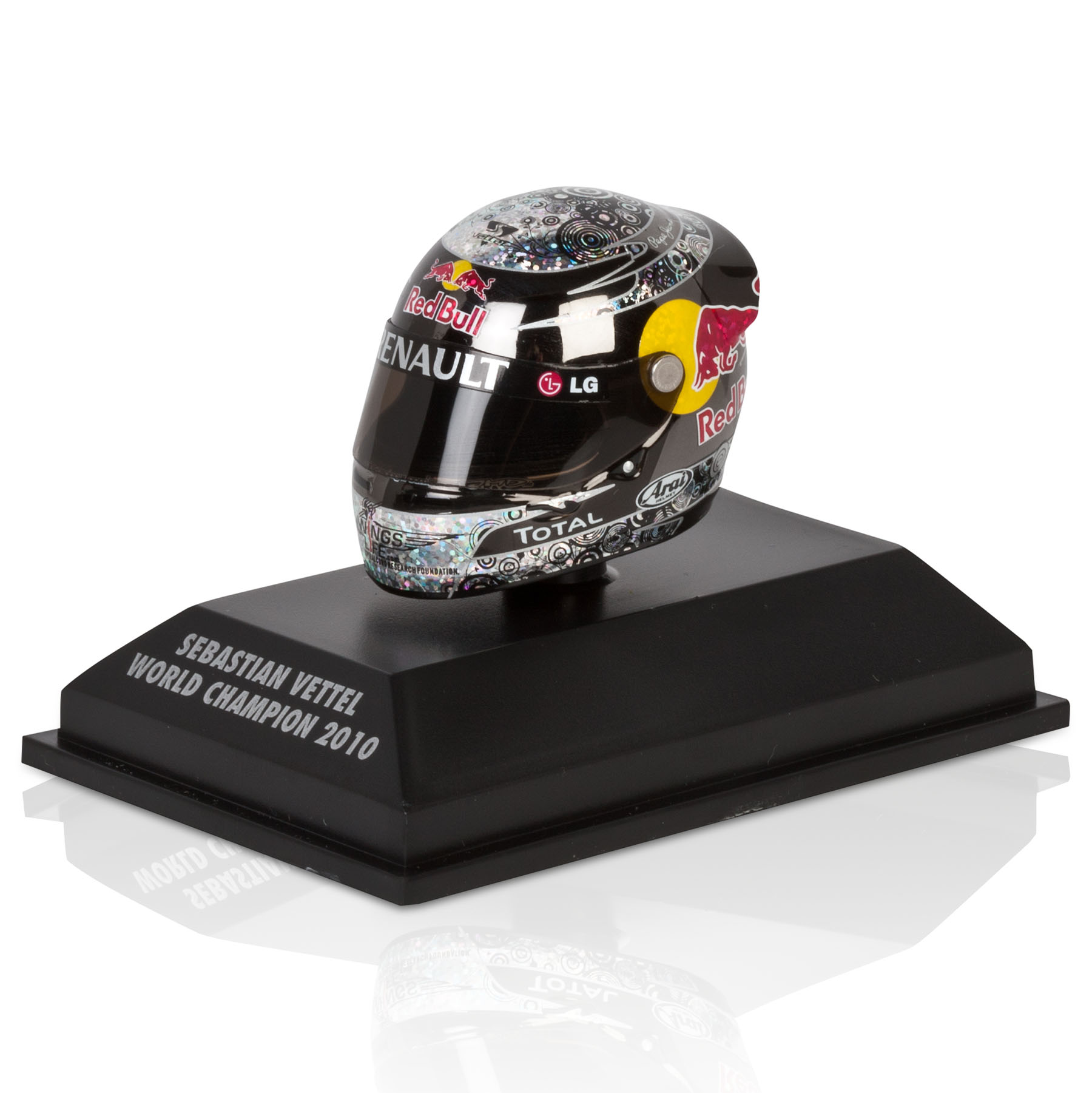 Die Cast Sebastian Vettel - Abu Dhabi 2010 - World Champion 1:8 Scale ArariHelmet Model Code: 381100105
