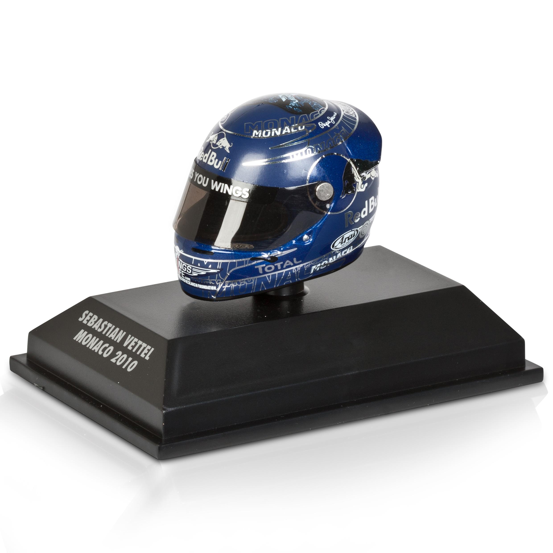 Die Cast Sebastian Vettel - Monaco 2010 1:8 Scale Arari Helmet