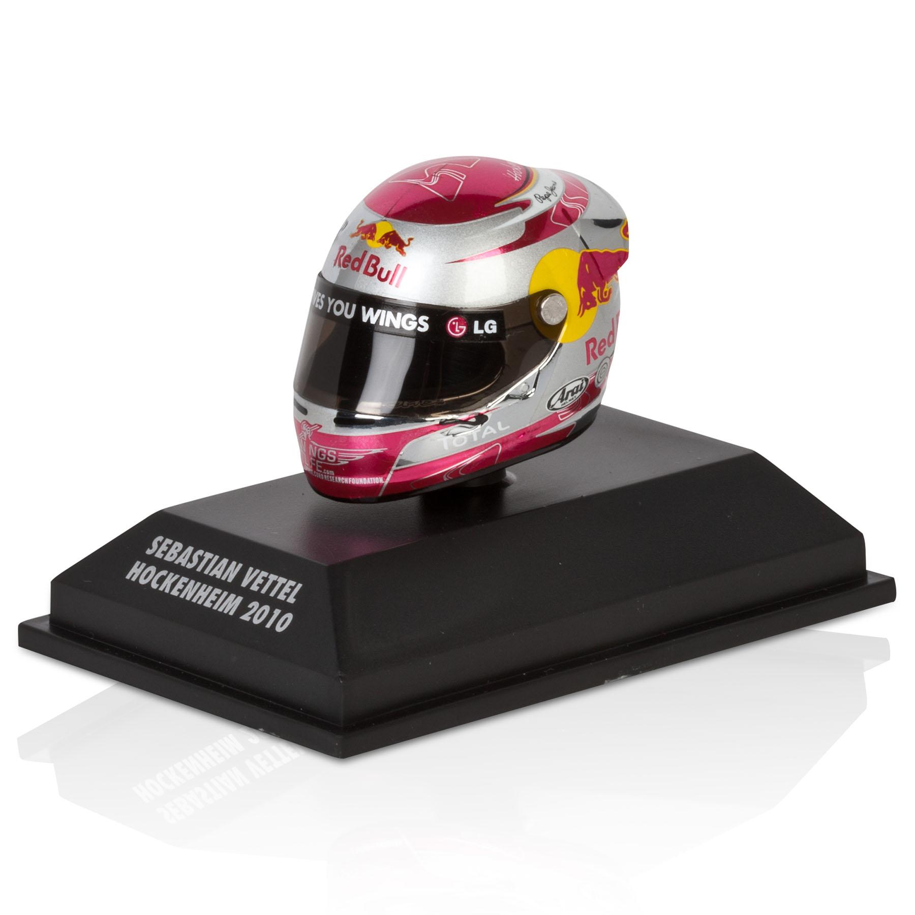 Die Cast Sebastian Vettel - Hockenheim 2010 1:8 Scale Arari Helmet Model Code: 381100305