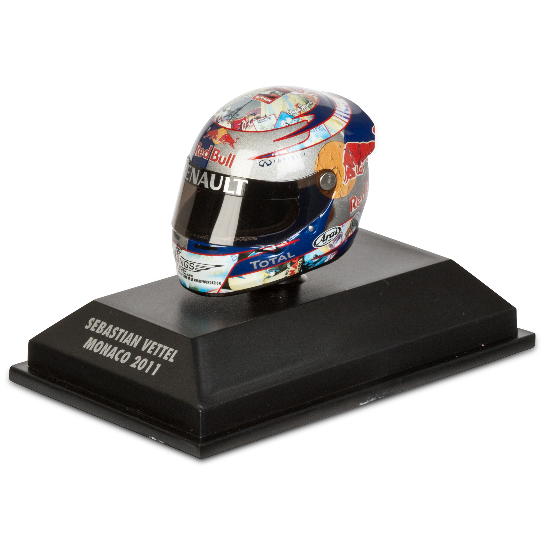 Die Cast Sebastian Vettel - Monaco 2011 1:8 Scale Arari Helmet Model Code: 381110101
