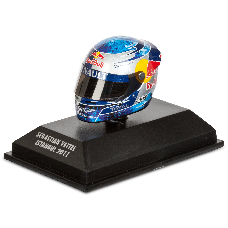 Die Cast Sebastian Vettel - Istanbul 2011 1:8 Scale Arari Helmet Model Code: 381110401
