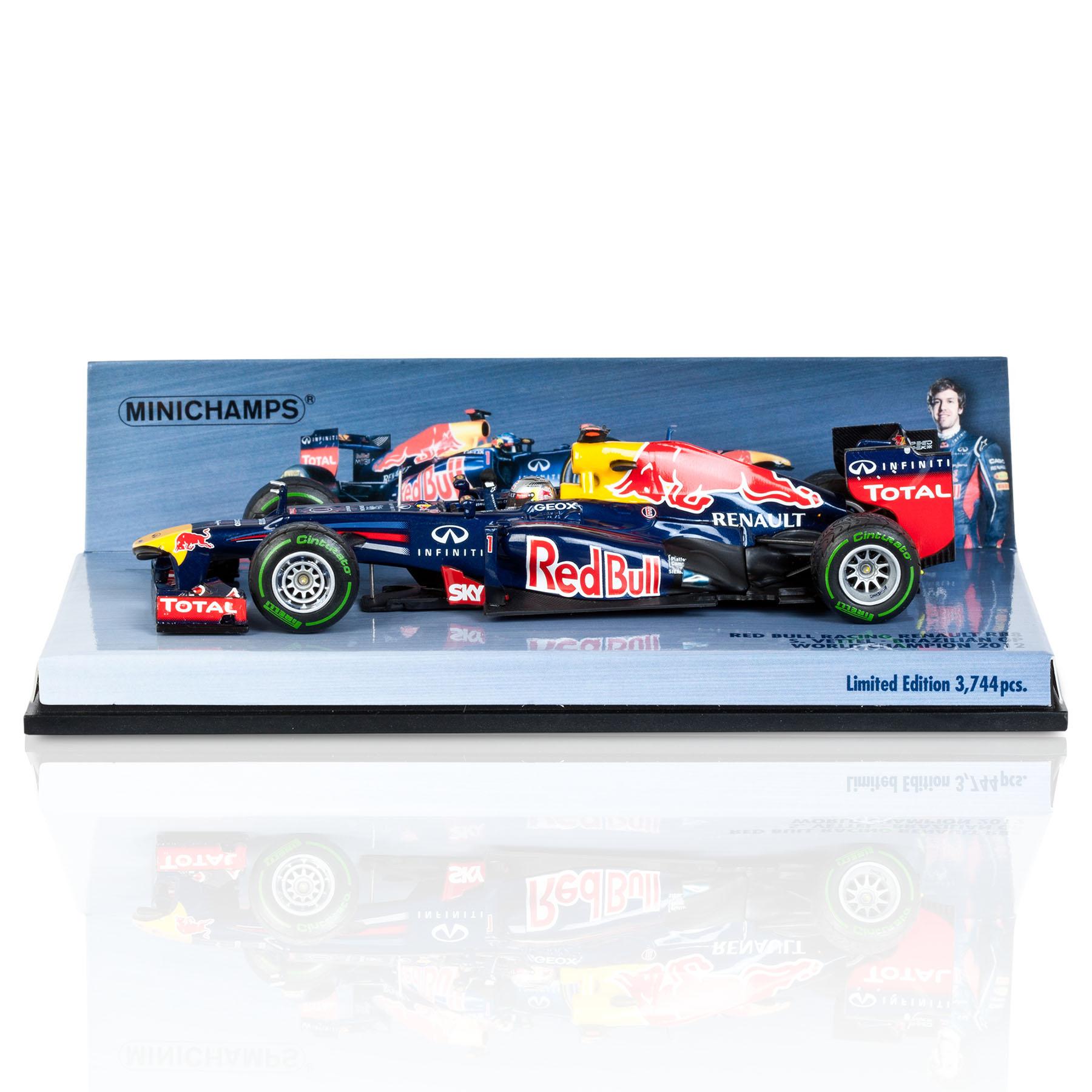 Die Cast Red Bull Racing Renault RB8 - Sebastian Vettel - 2012 Brazil GP World Champion 2012