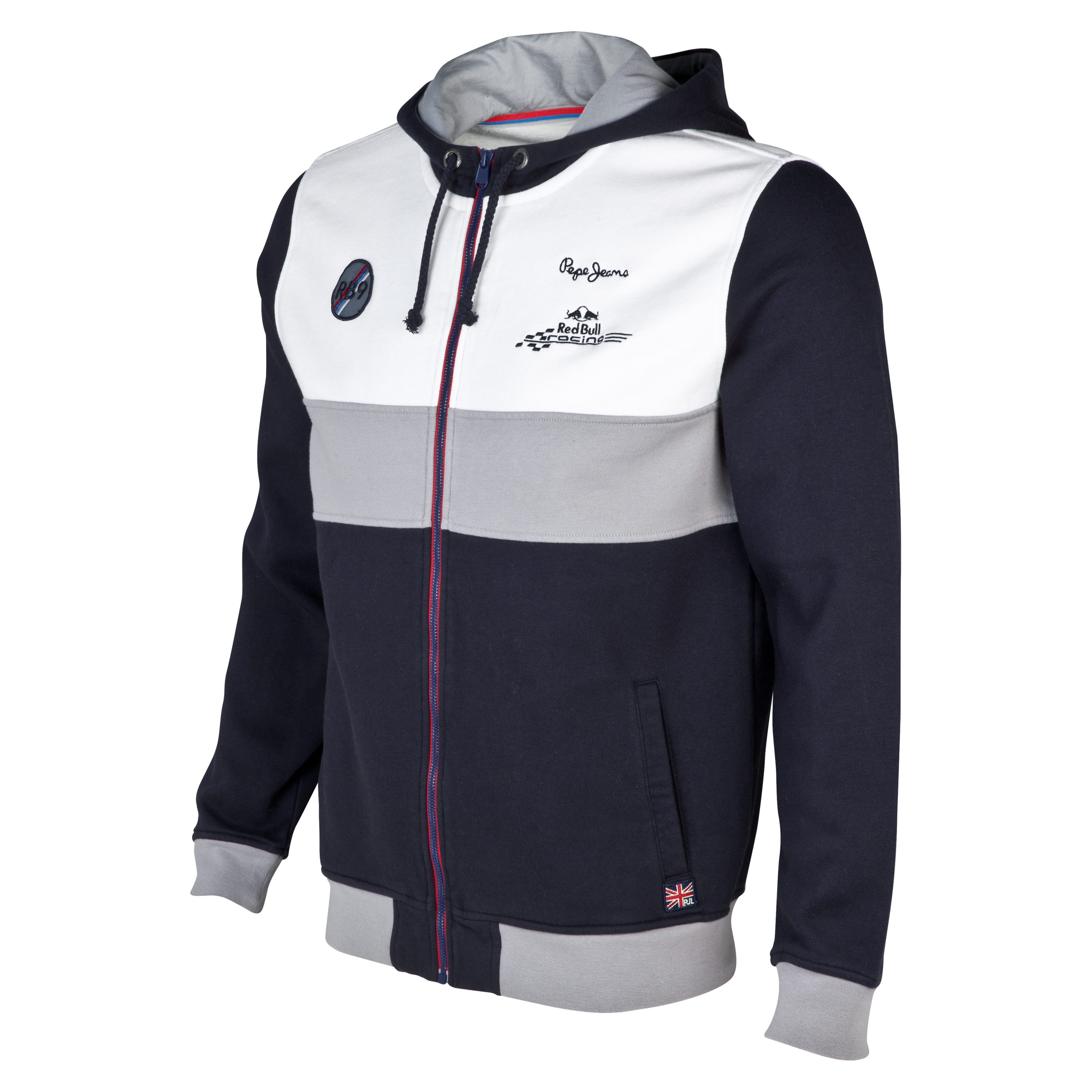Infiniti Red Bull Racing By Pepe Jeans Rim Zip Hoodie Blue