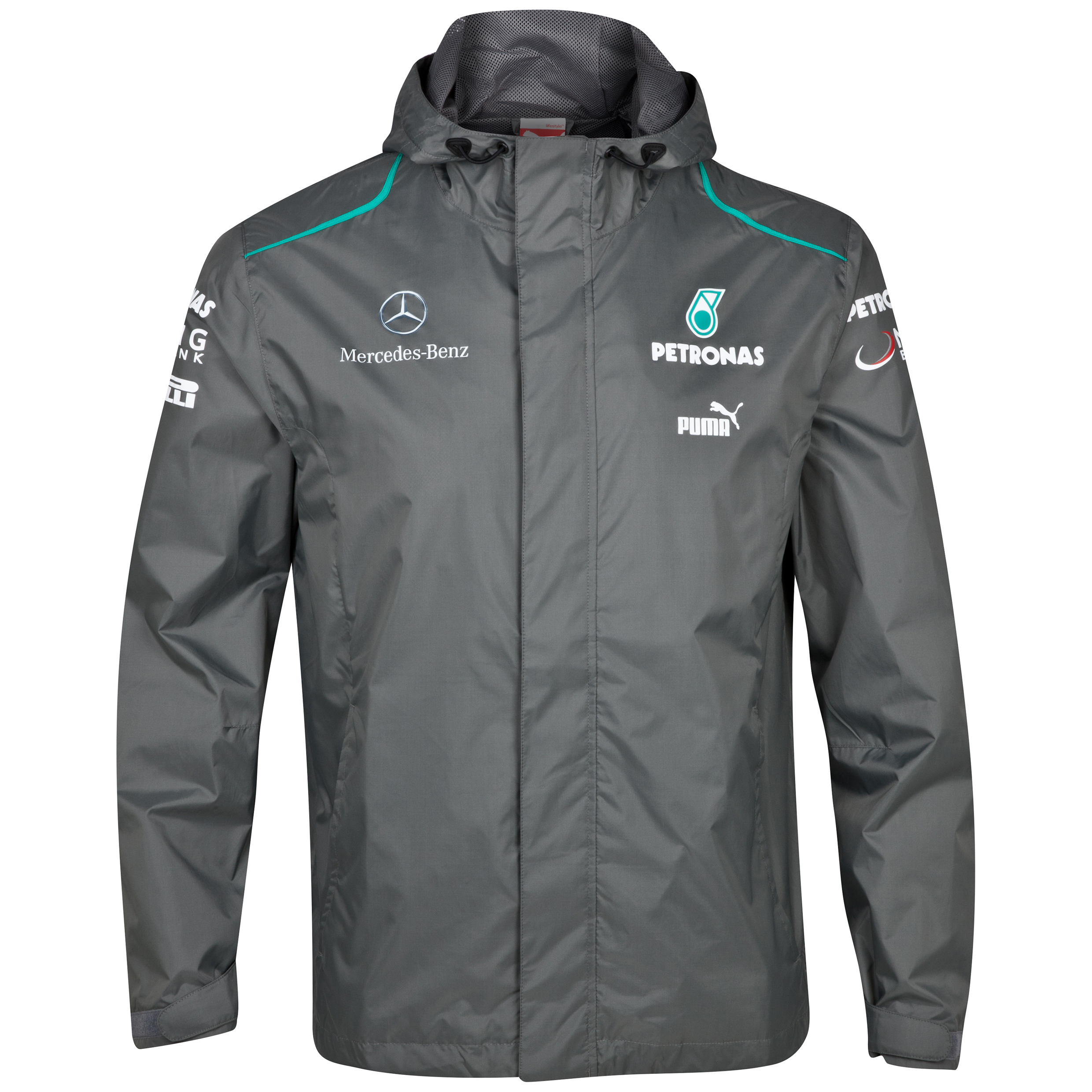 Mercedes AMG Petronas 2013 Team Jacket Grey
