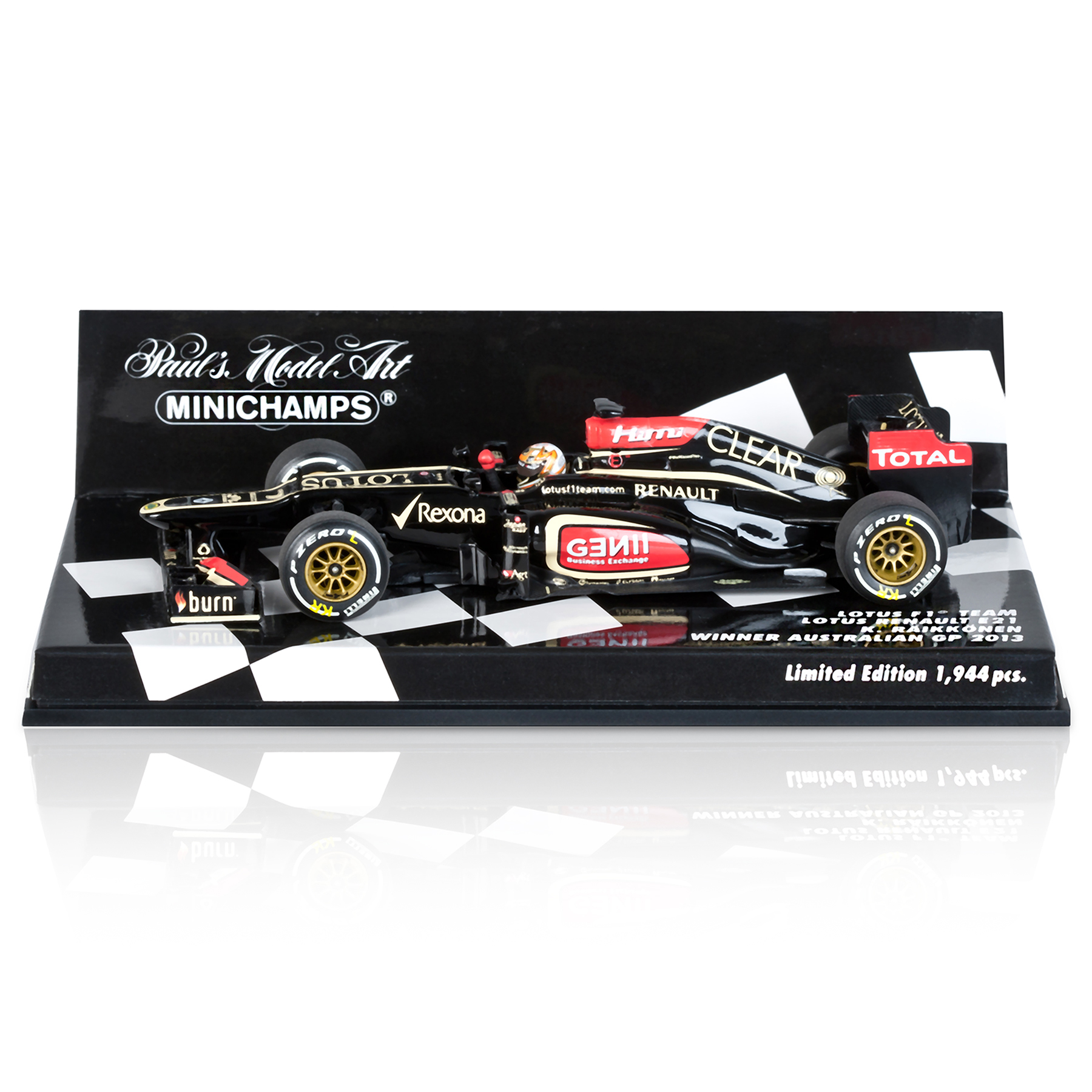Lotus F1 Team Renault E21 Kimi Raikkonen Winner Australian GP 2013 - Limited Edition 1:43 Scale