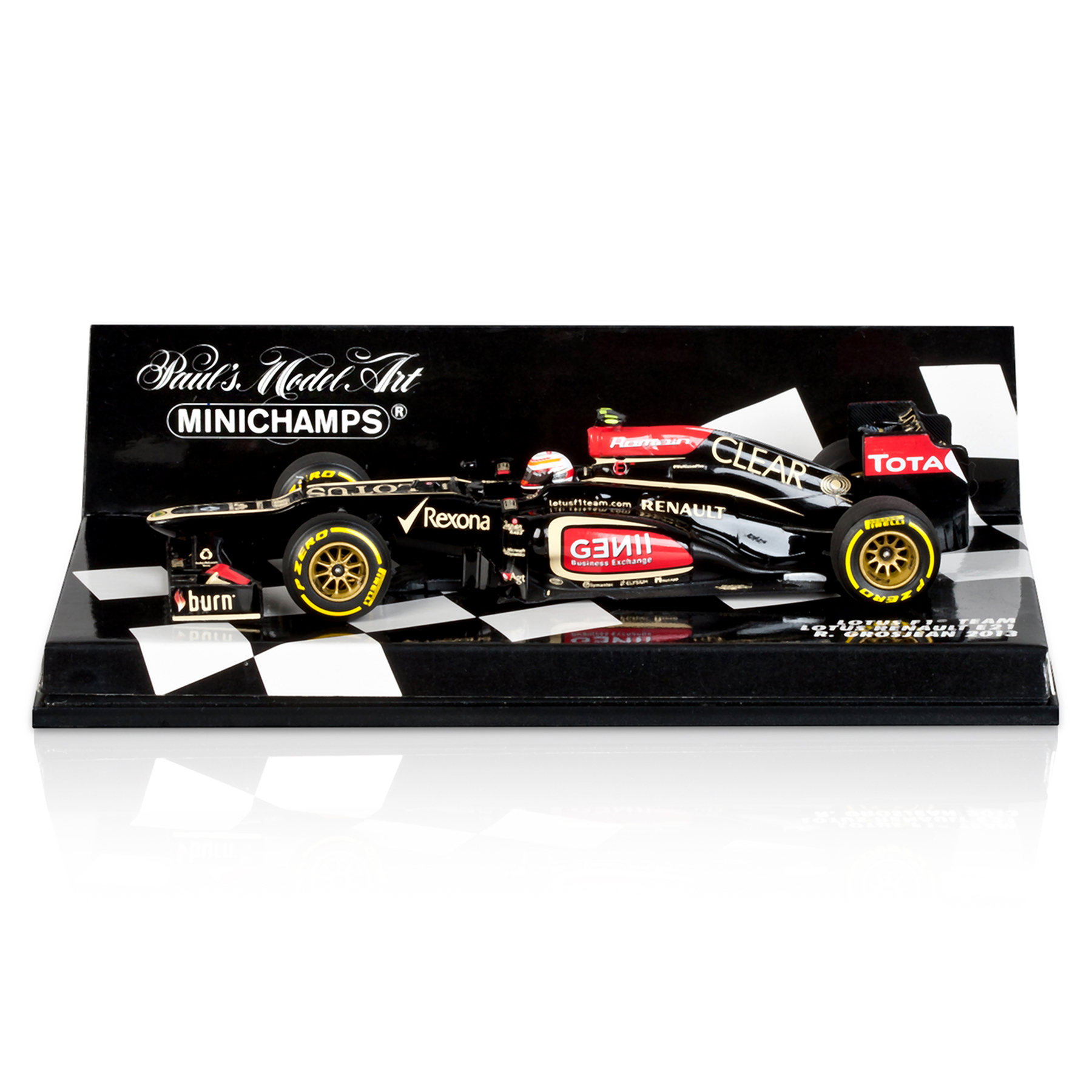 Lotus F1 Team Renault E21 Romain Grosjean 2013 1:43 Scale