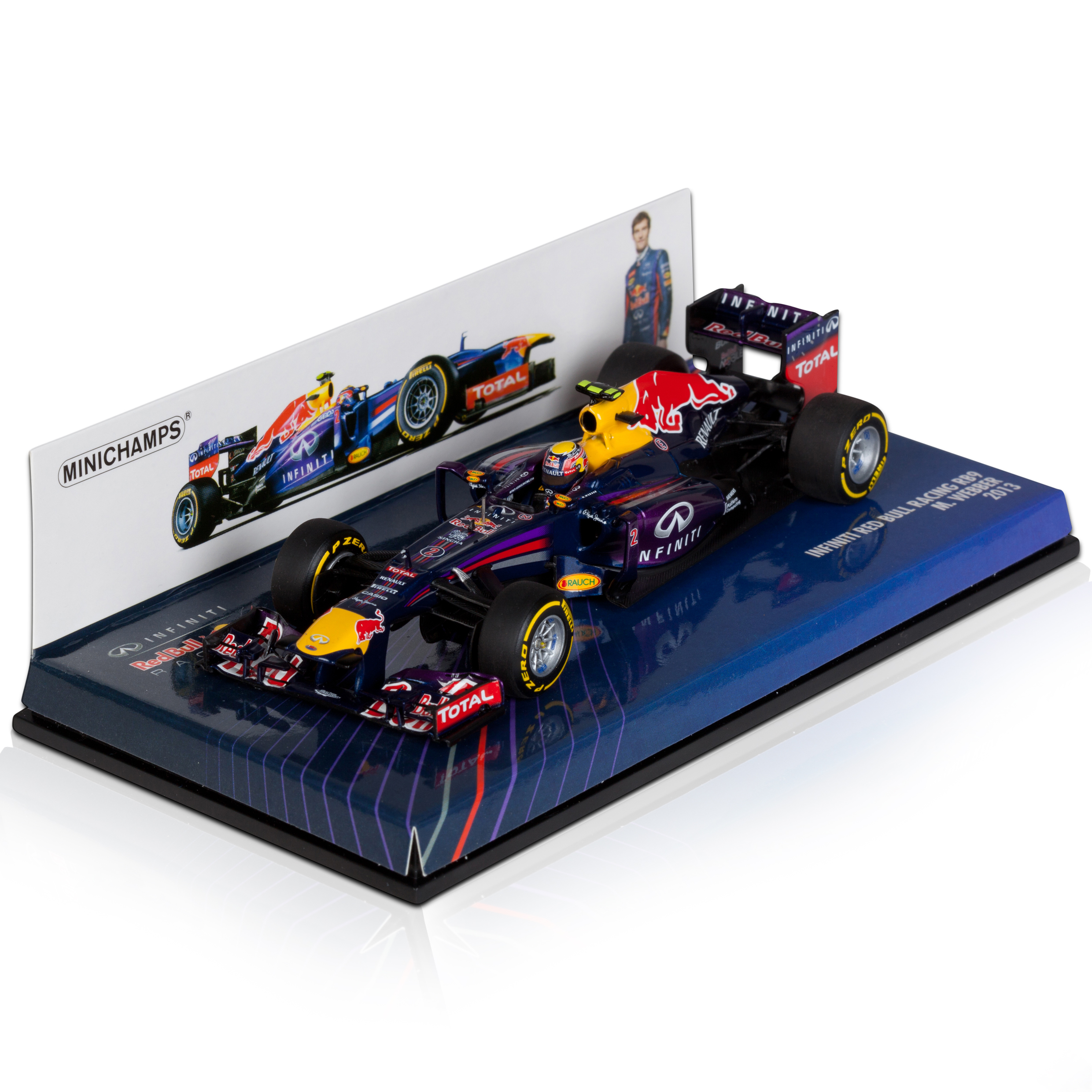 Infiniti Red Bull Racing Renault RB9 Mark Webber 2013 1:43 Scale