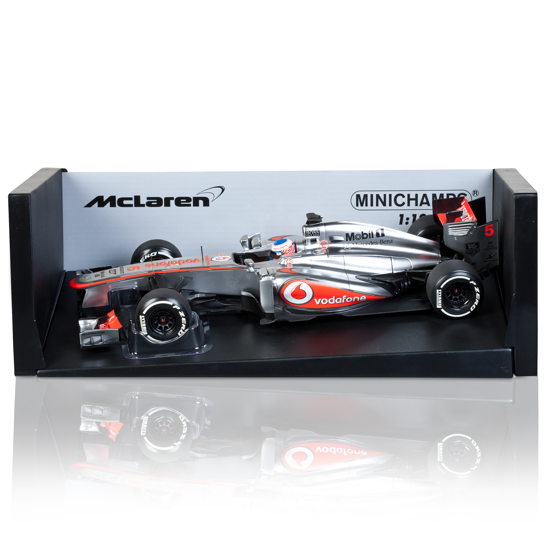 Vodafone McLaren Mercedes MP4-28 Jenson Button 2013 1:18 Scale