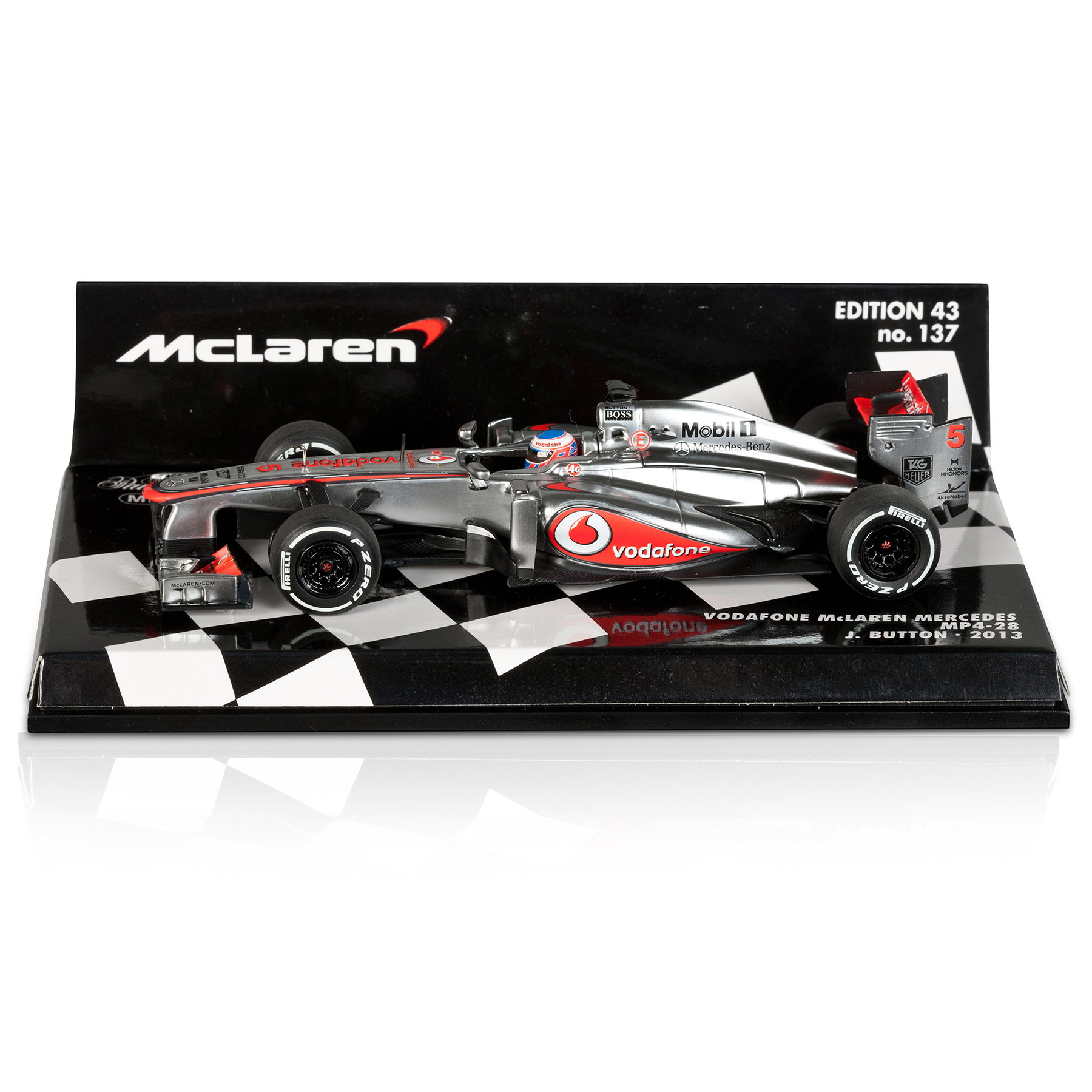 Vodafone McLaren Mercedes MP4-28 Jenson Button 2013 1:43 Scale