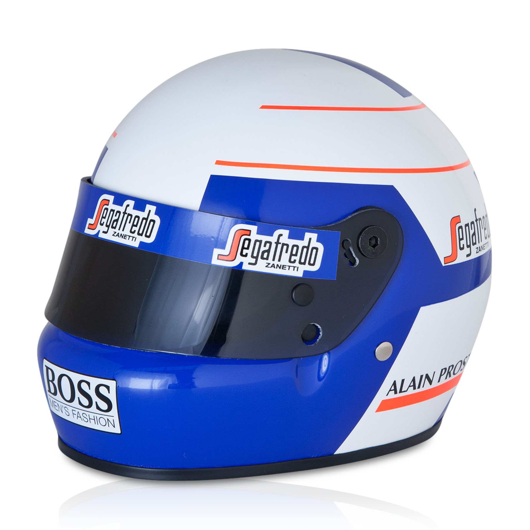 Team McLaren 50th Anniversary Alain Prost World Champion 1985 1:2 Scale Helmet