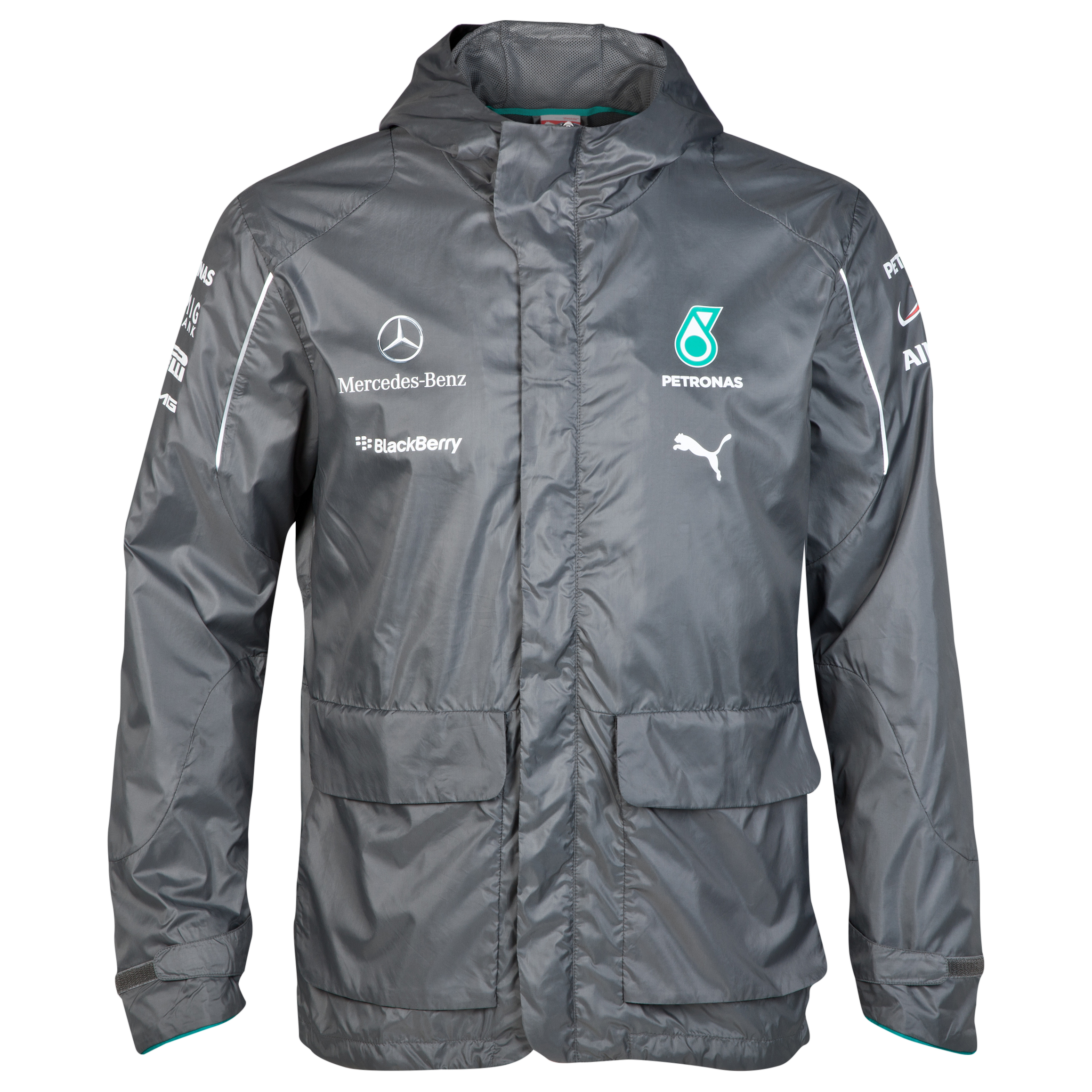 Mercedes AMG PETRONAS Team Jacket Grey
