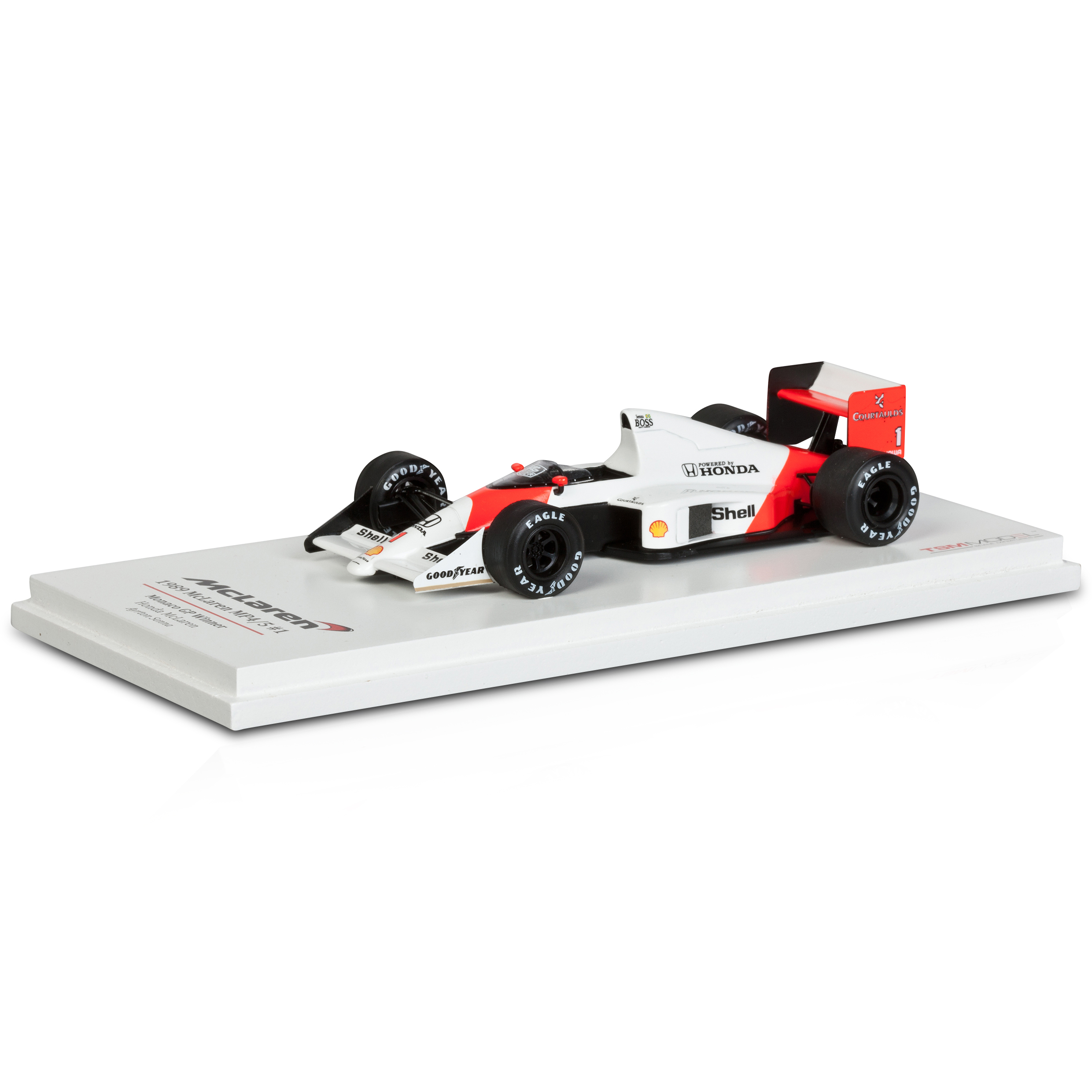 Team McLaren MP4/5 1989 Monaco GP 1st Place No.1 - A. Senna 1:43 Scale