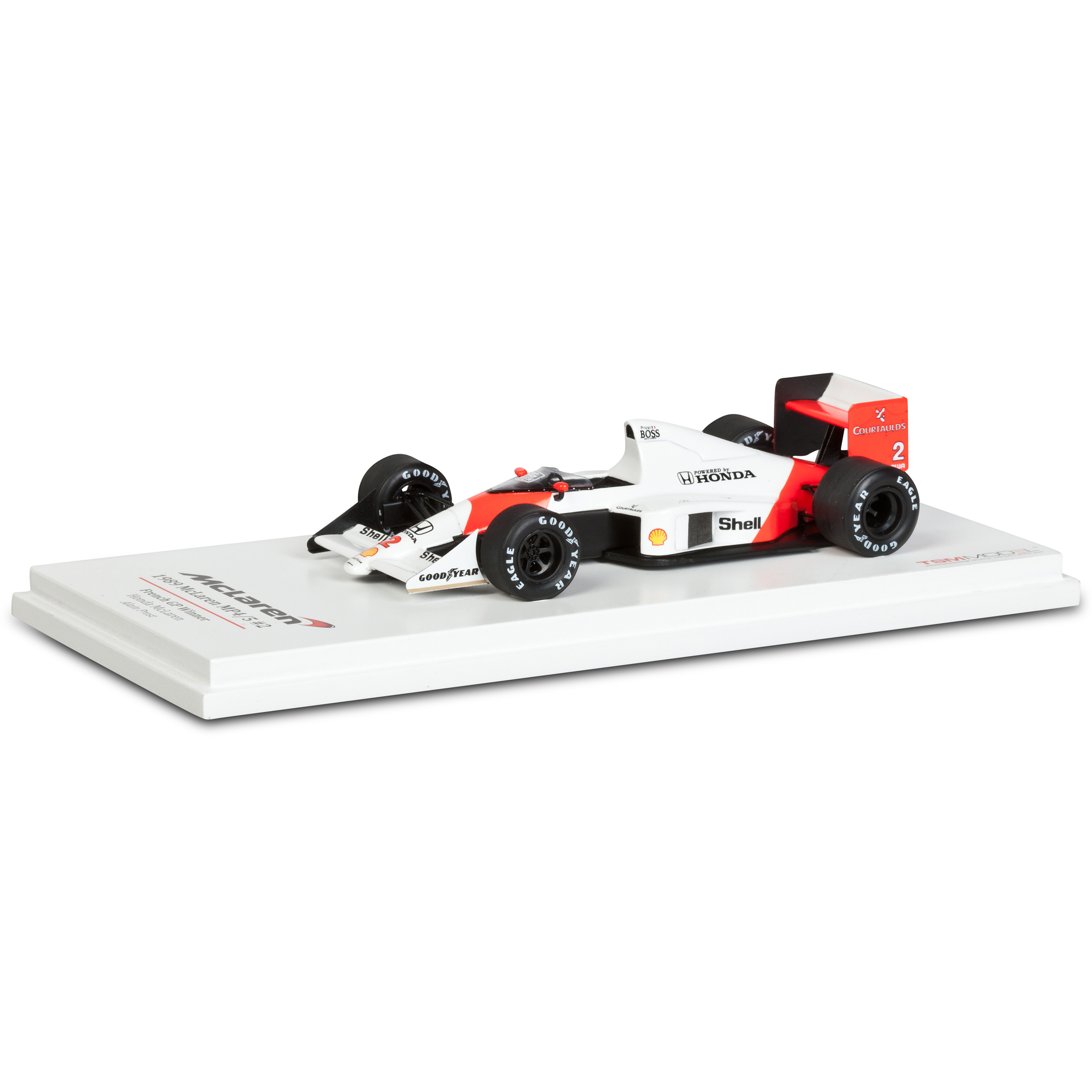 McLaren MP4/5 1989 French GP 1st Place No.2 - A. Prost 1:43 Scale