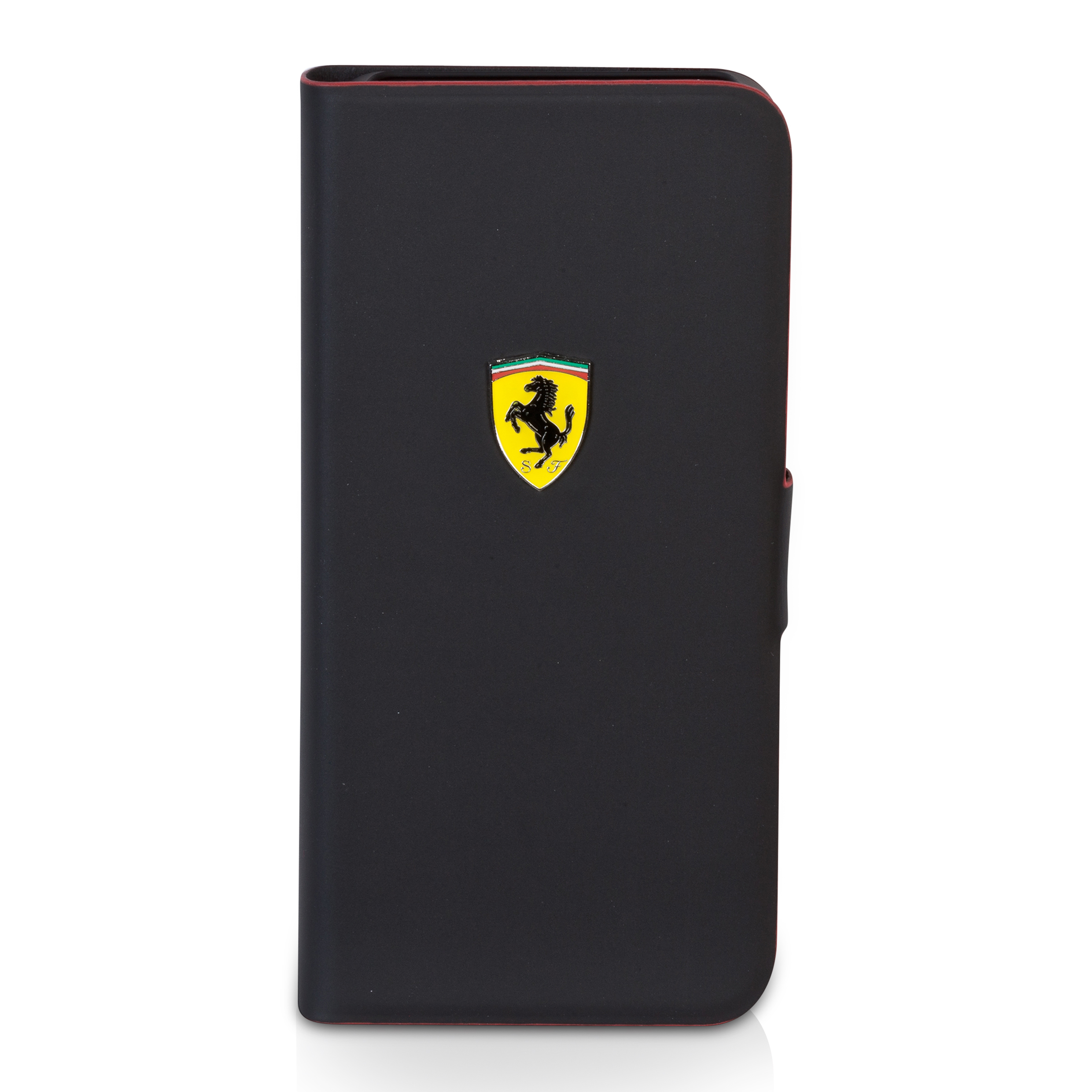 Scuderia Ferrari iPhone 5 Rubber Hardcase With Flap - Black Black