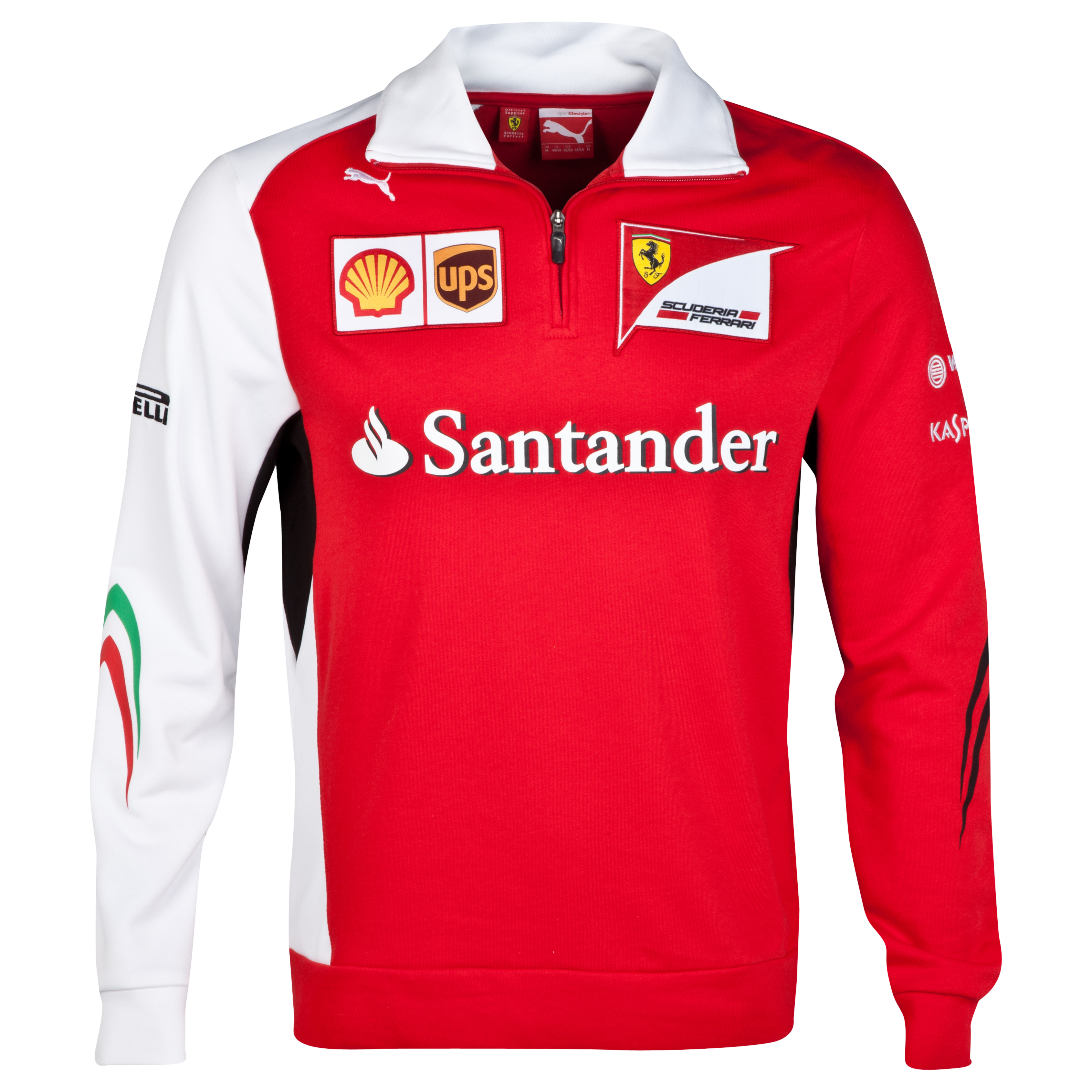 Scuderia Ferrari Team Half Zip Fleece Red