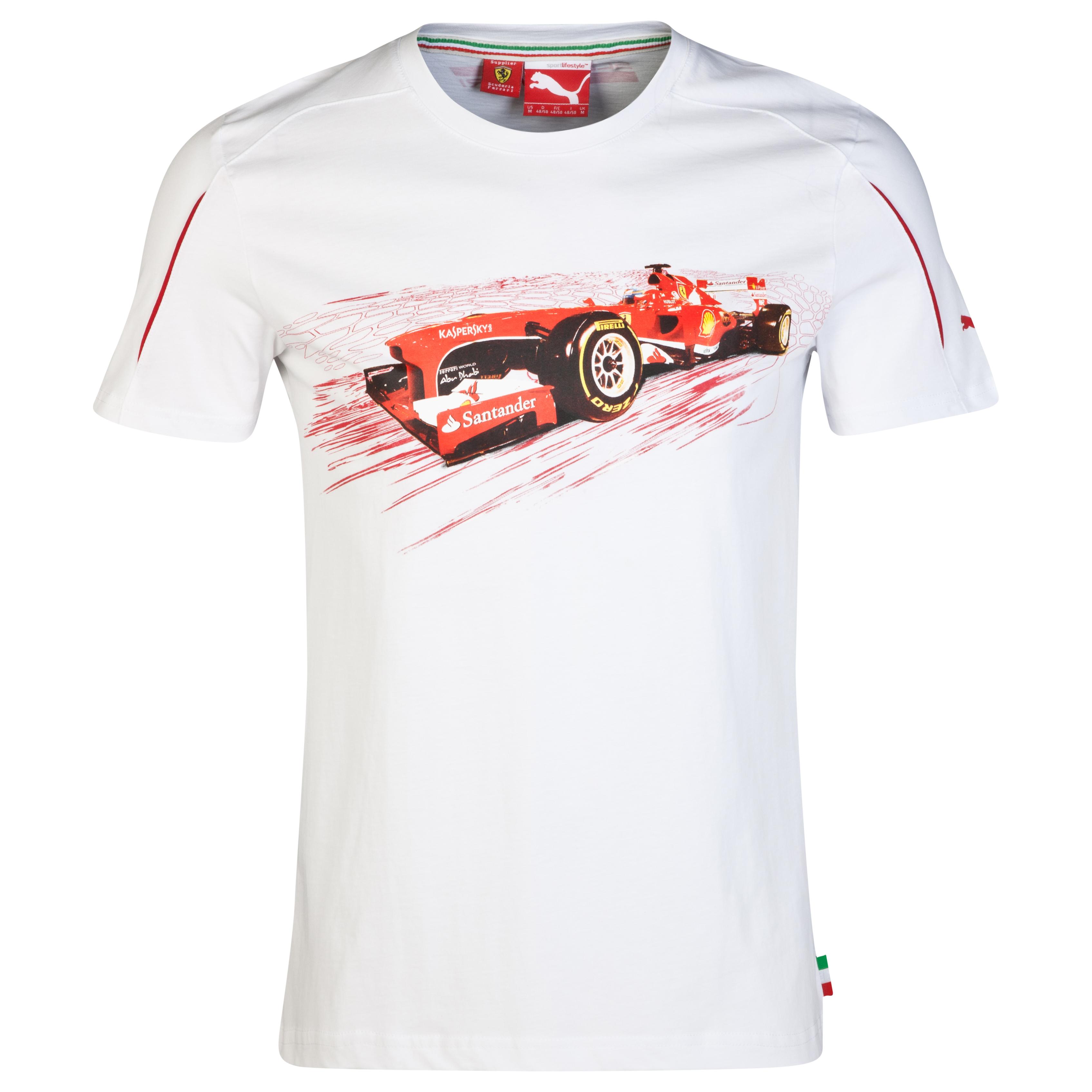 Scuderia Ferrari Graphic T-Shirt White