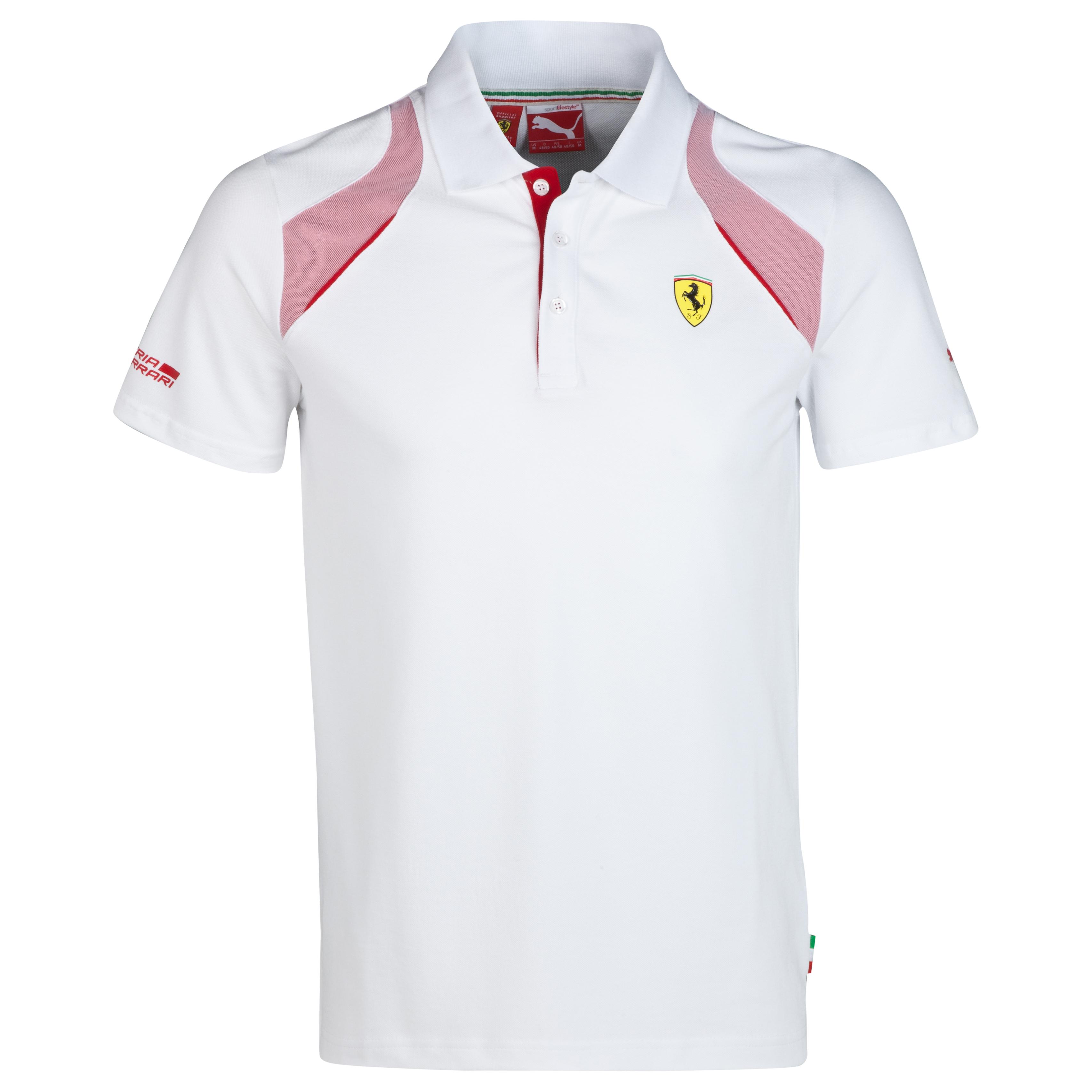 Scuderia Ferrari Polo White