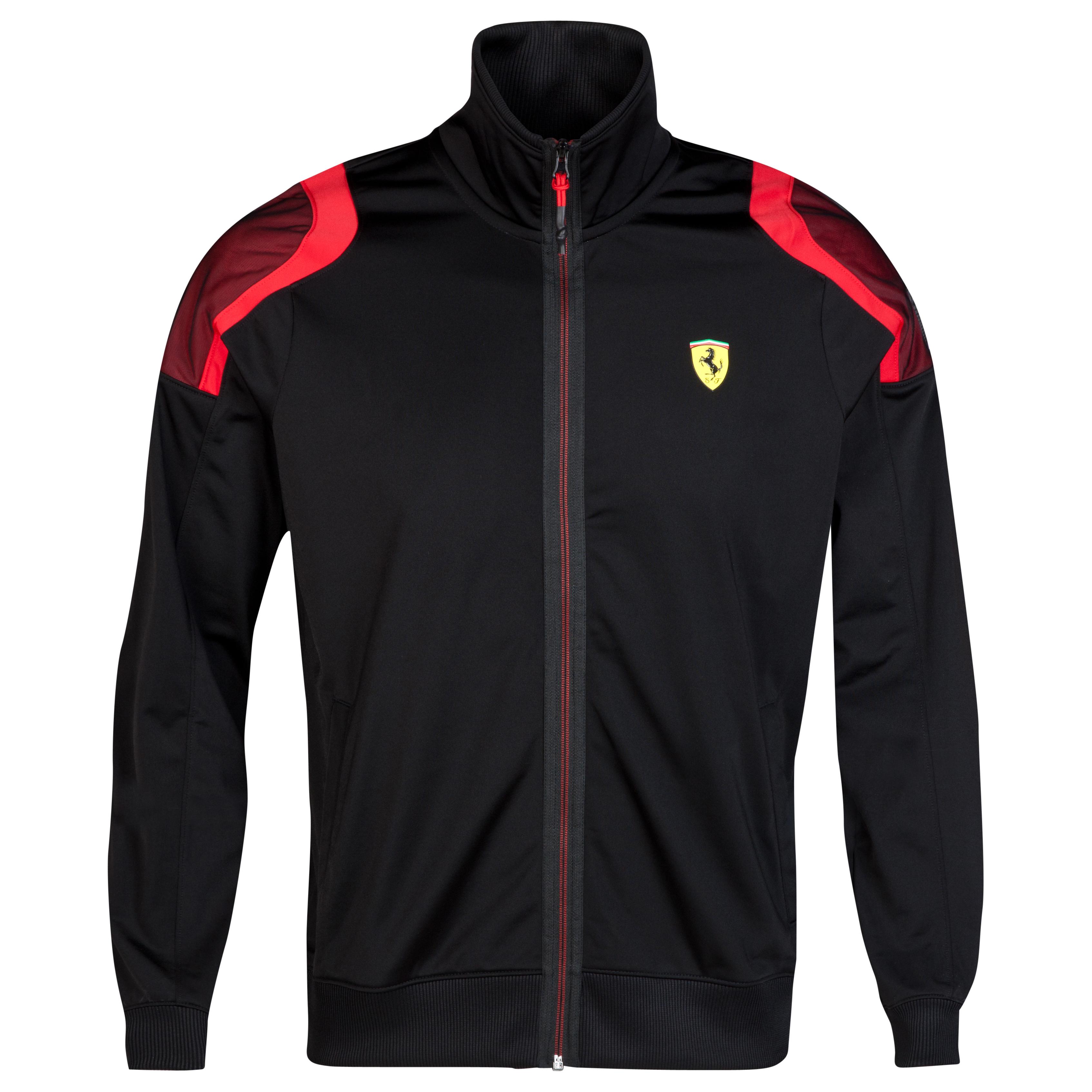 Scuderia Ferrari Track Jacket Black