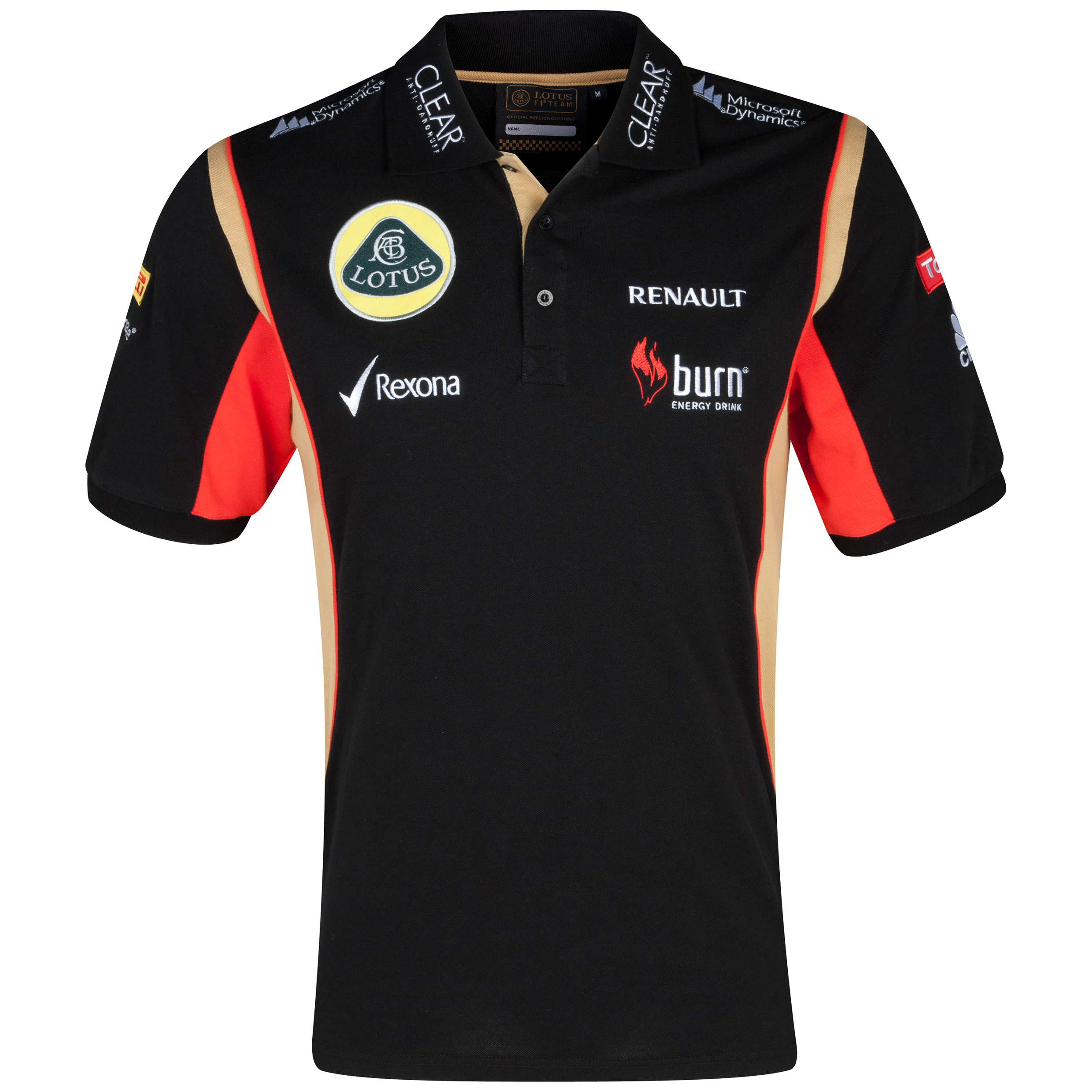 Lotus F1 Team 2013 Mens Replica Polo Black