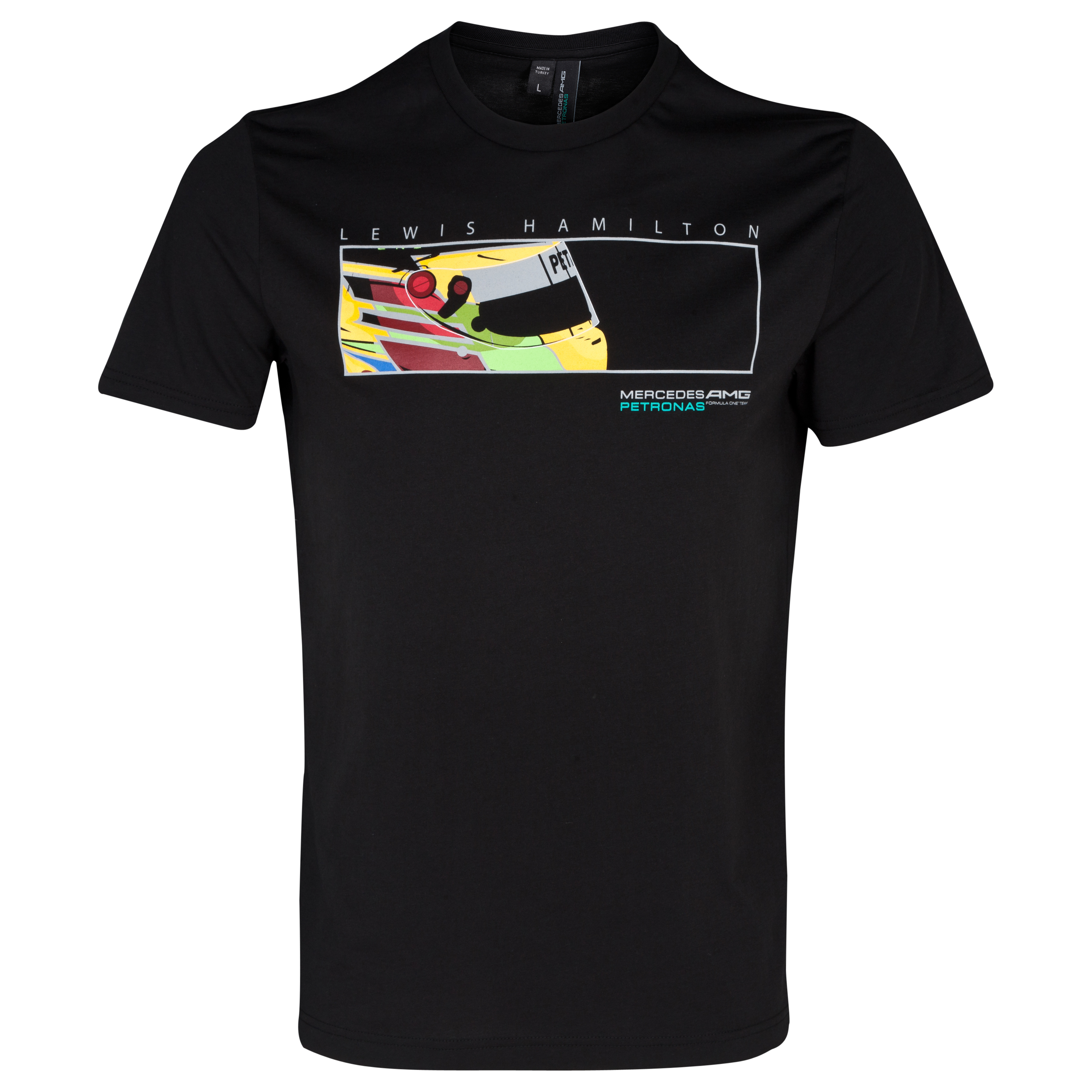 Mercedes AMG Petronas Lewis Colour Splash Helmet T-Shirt Black