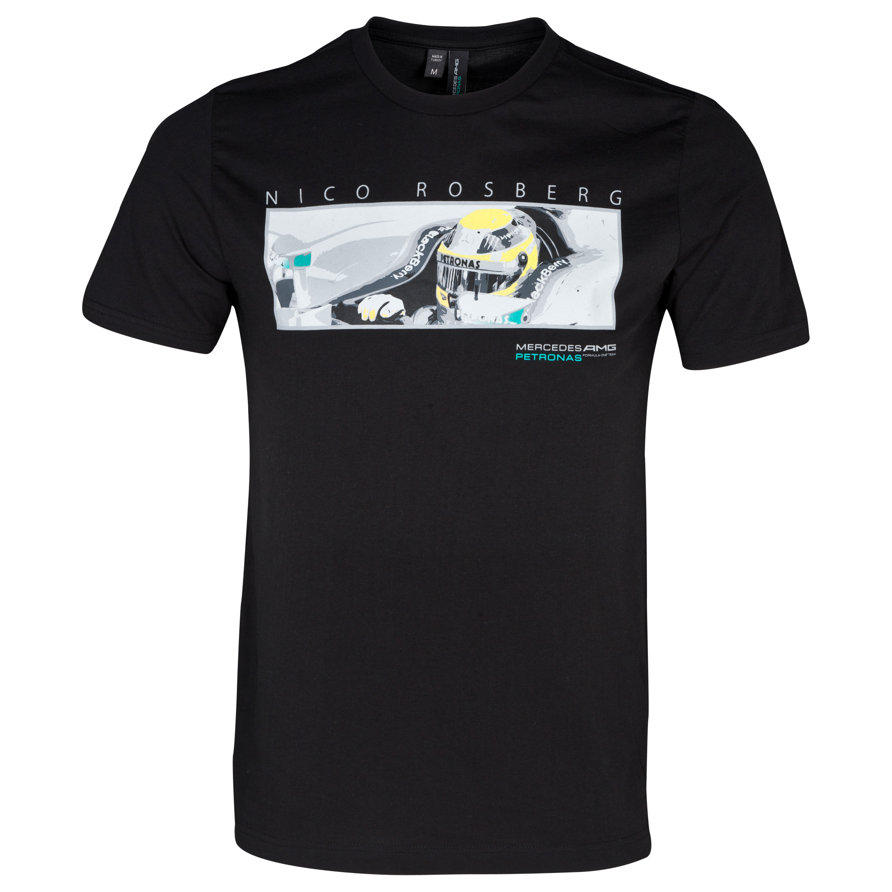 Mercedes AMG Petronas Nico Car T-Shirt Black