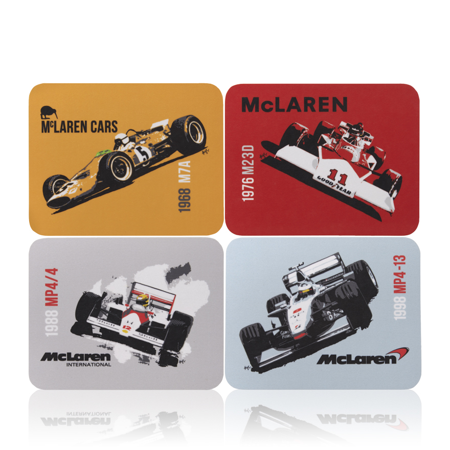 Team McLaren Car Coaster Set - 4 Pack