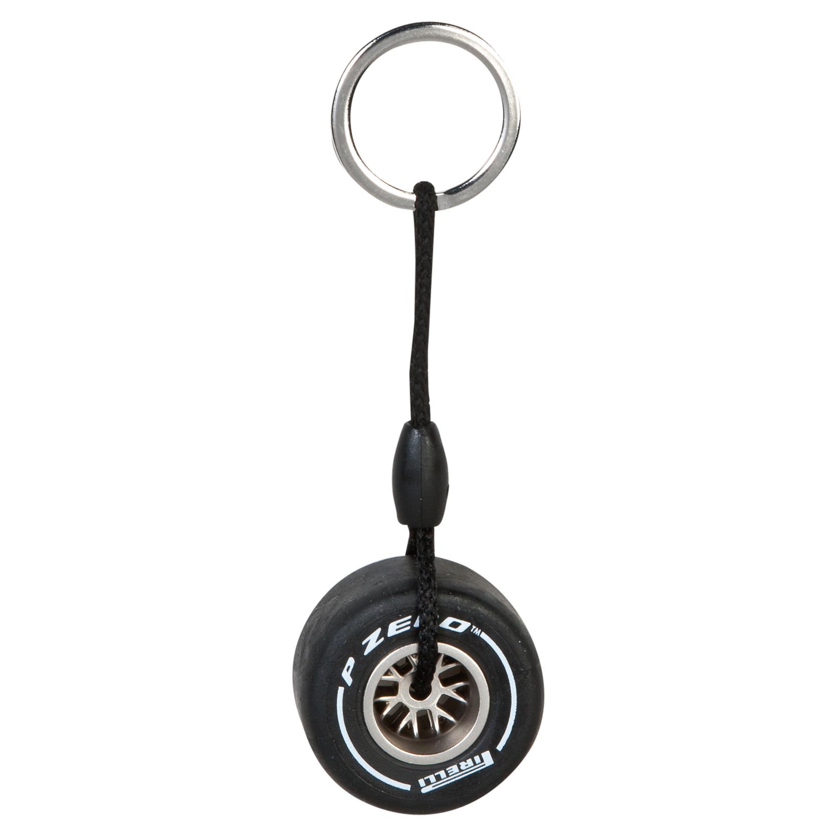 Pirelli Rim Tyre Key Ring - Medium White